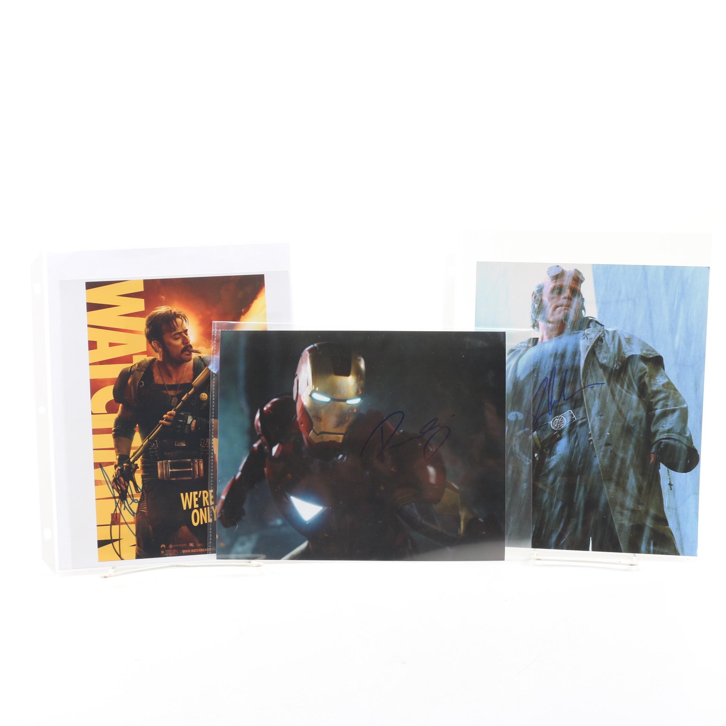 Robert Downey Jr., Jeffrey Dean Morgan, and Ron Perlman Autographs
