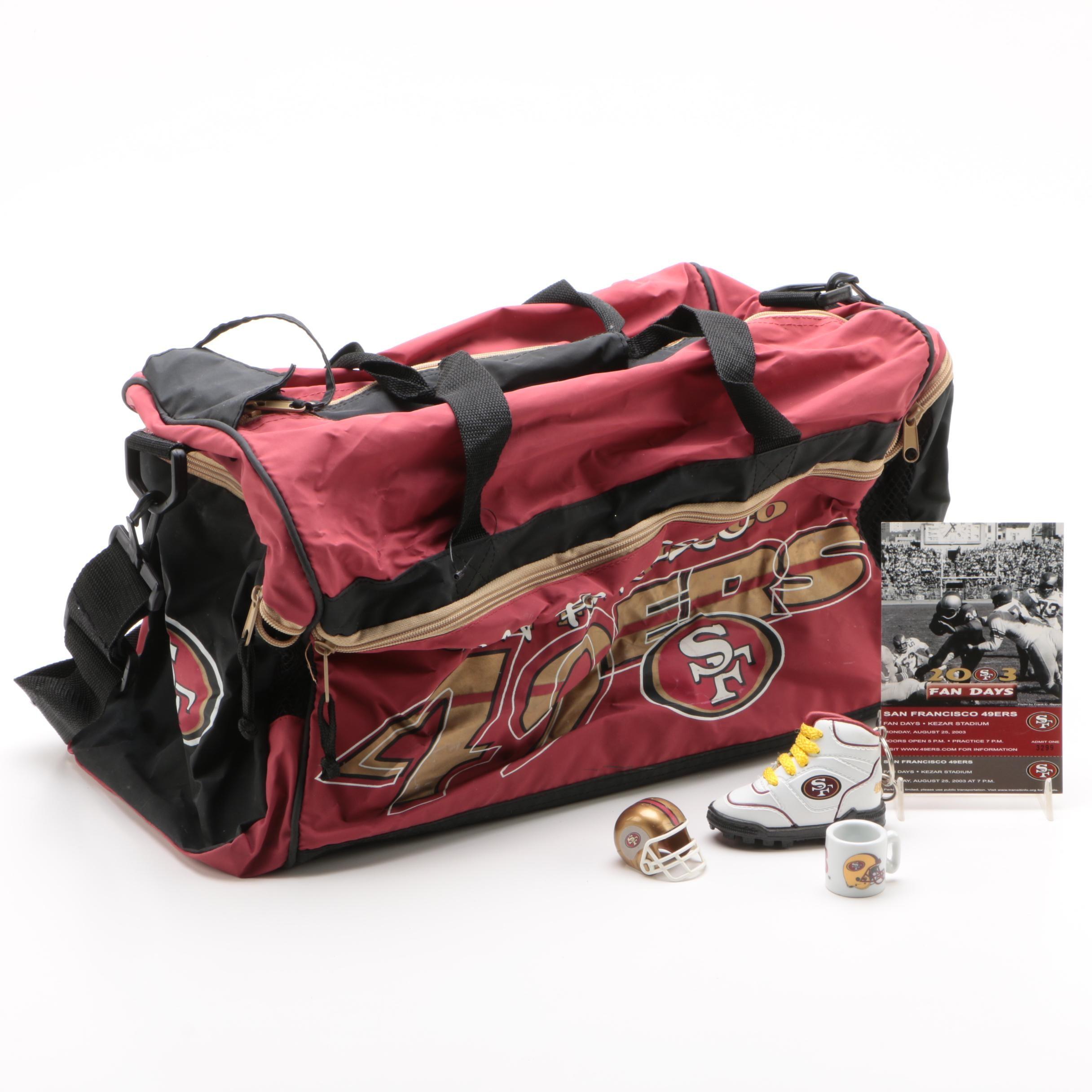 San Francisco 49ers Duffel Bag and Other Memorabilia