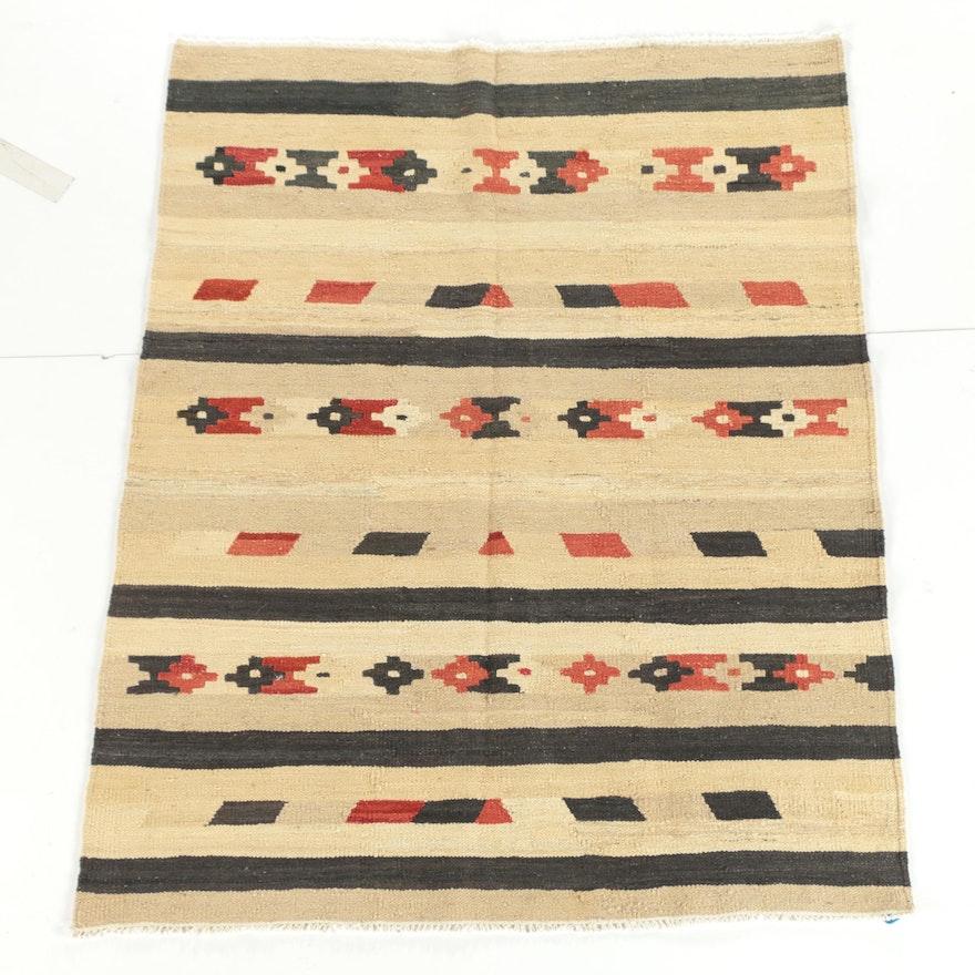 Handwoven Afghani Wool Slitweave Kilim