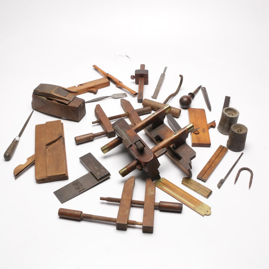 Antique And Vintage Woodworking Planes Tools Clamps And More Ebth