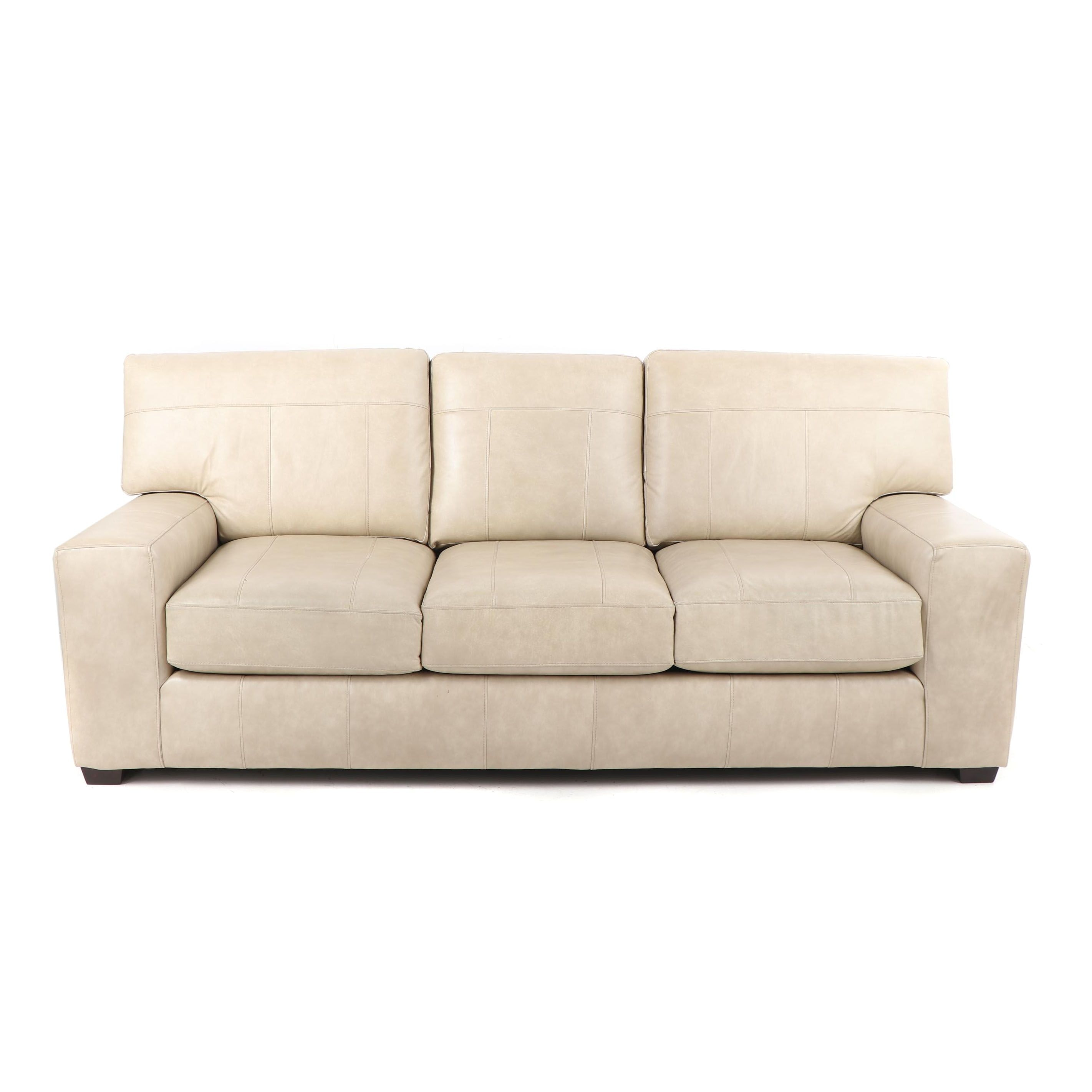 Faux Leather Sofa, 21st Century