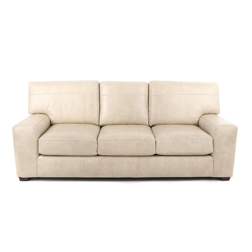 Faux Leather Sofa, 21st Century