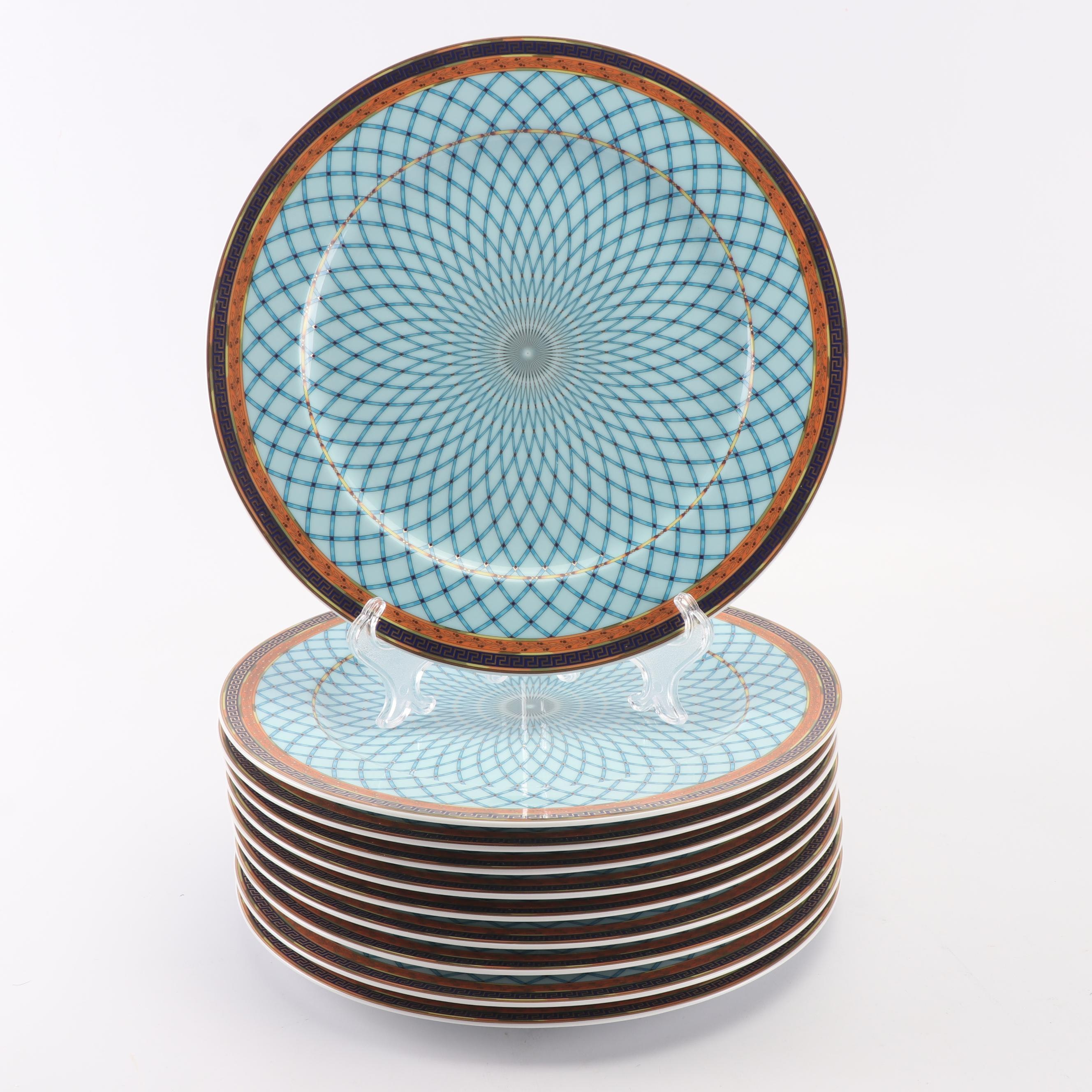 "Versace for Rosenthal ""Russian Dream"" Porcelain Service Plates"
