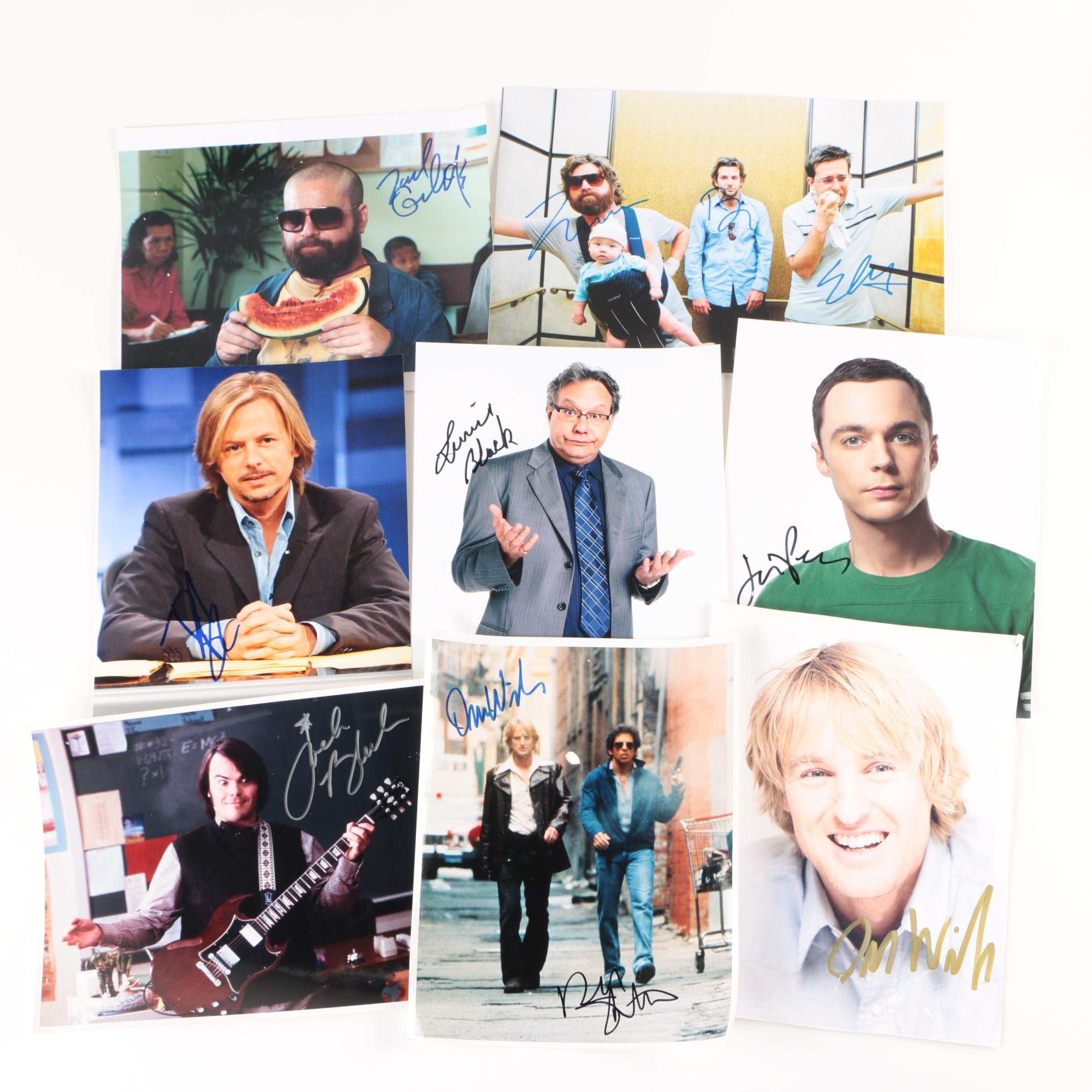 Celebrity Autographed Photos Including Jim Parsons and Bradley Cooper