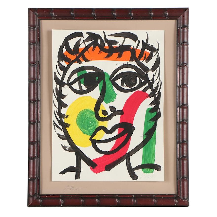 """Peter Robert Keil Oil Painting """"Boy from Spain"""""""