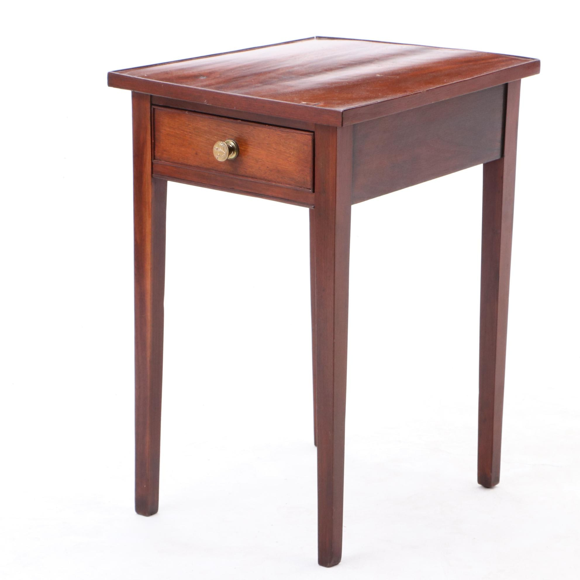 Hepplewhite Style Mahogany Side Table