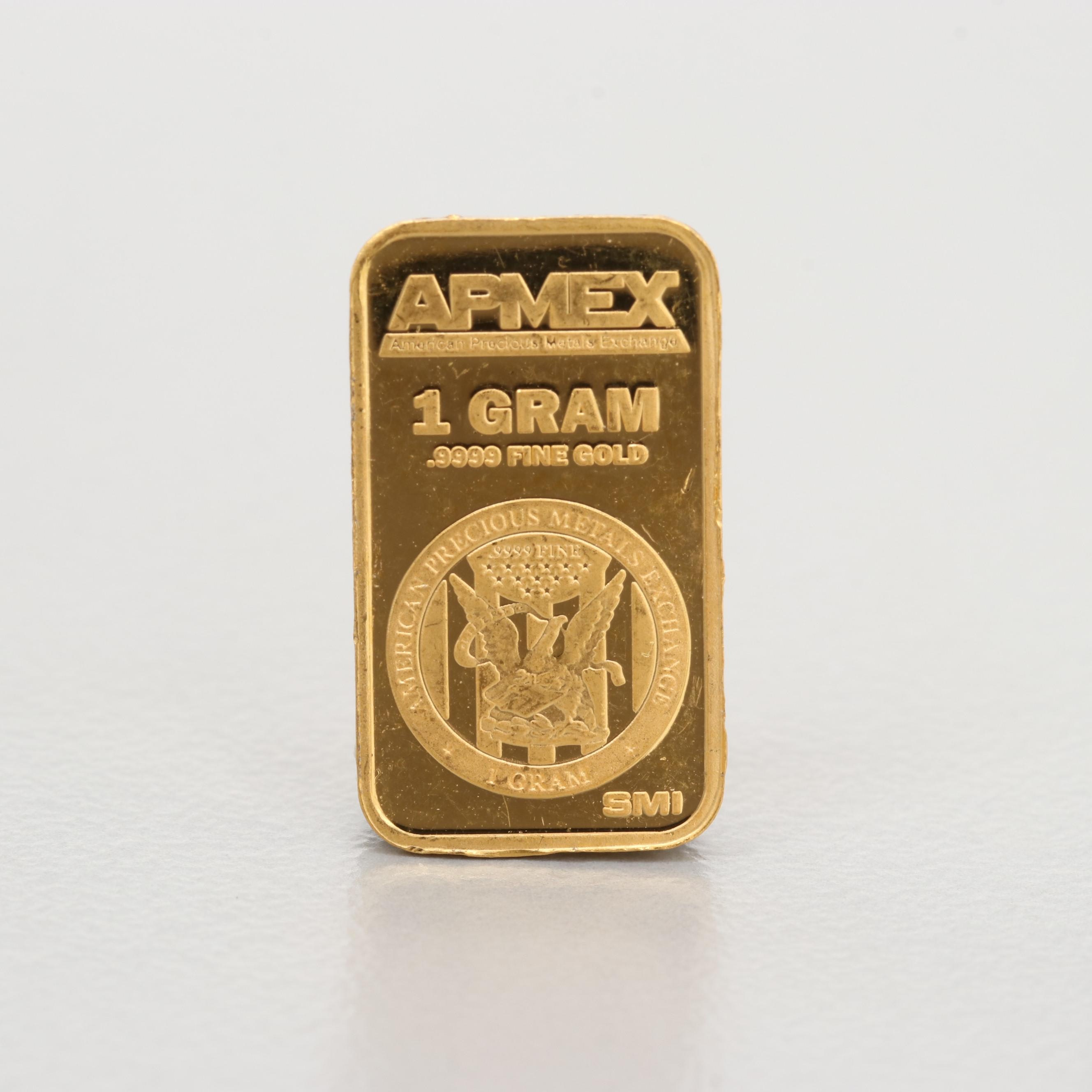 24K Gold APMEX 1 Gram Gold Bar