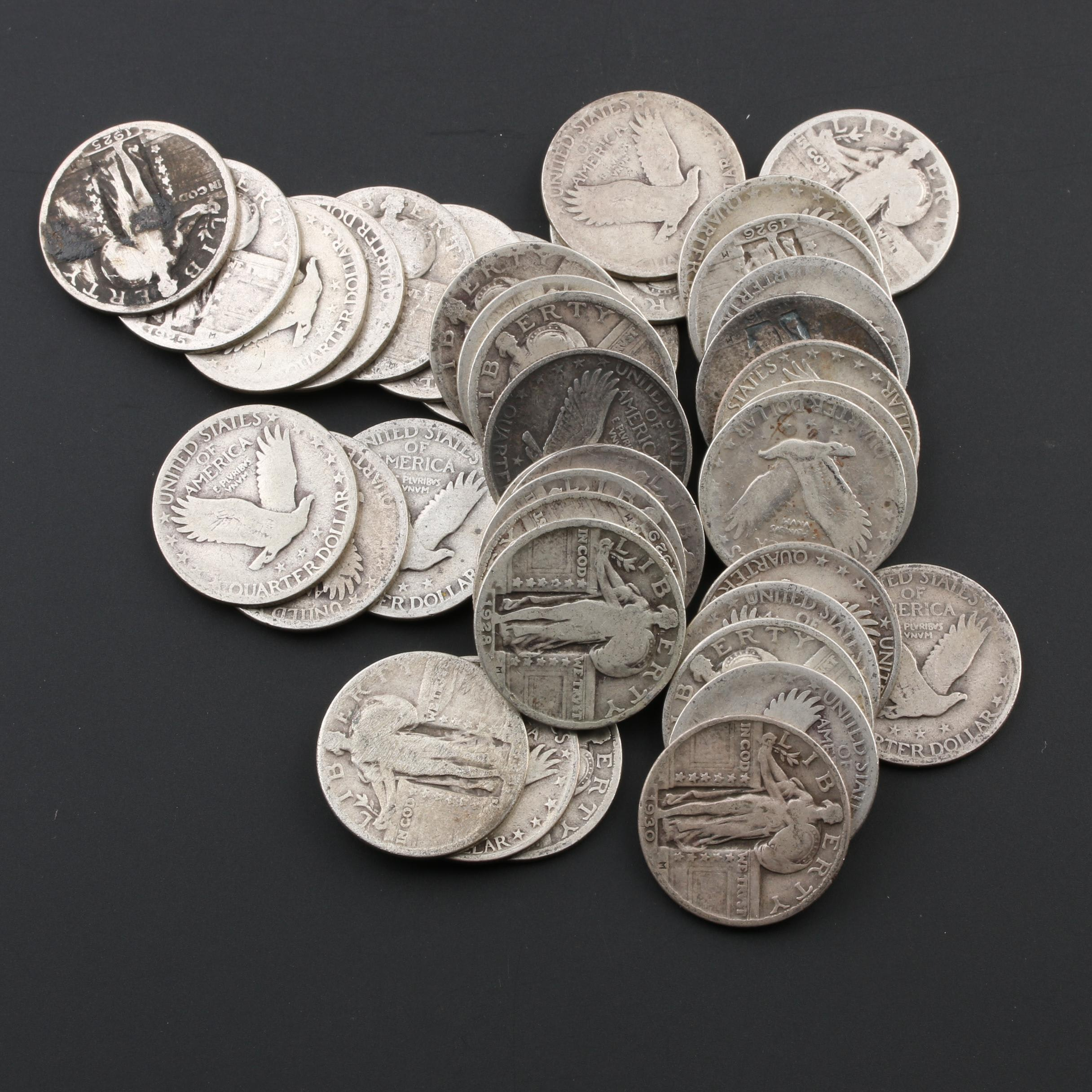 Group of Forty Standing Liberty Silver Quarters
