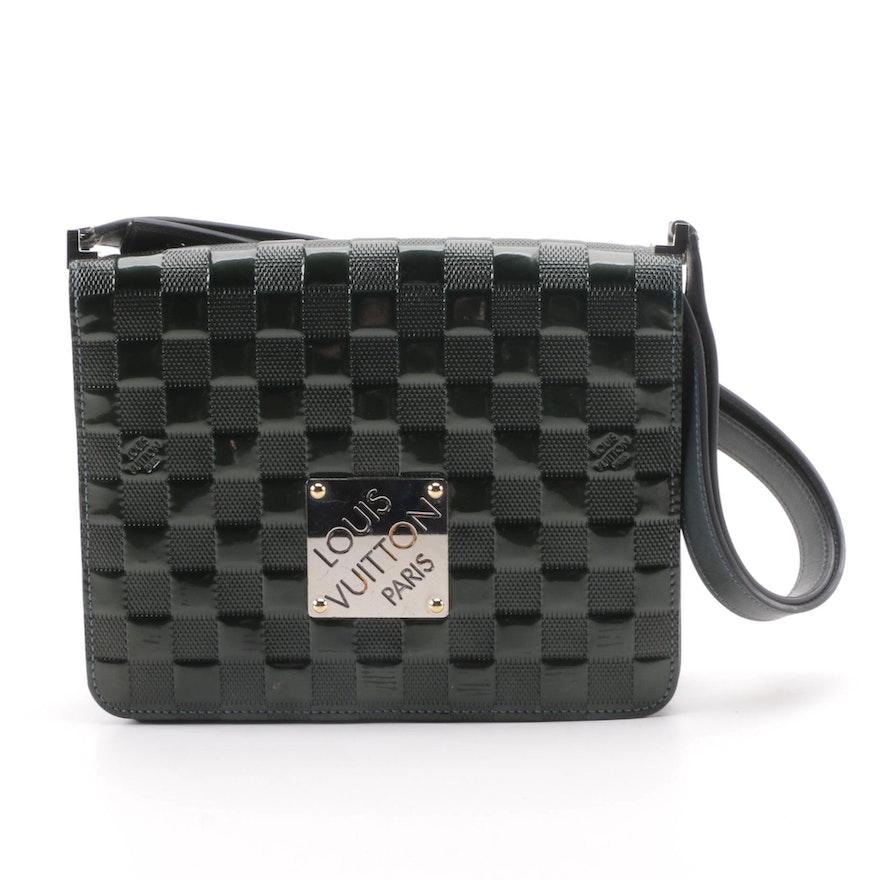 0b2ec5a58000 2000 Louis Vuitton Paris Green Damier Vernis Cabaret Bag   EBTH