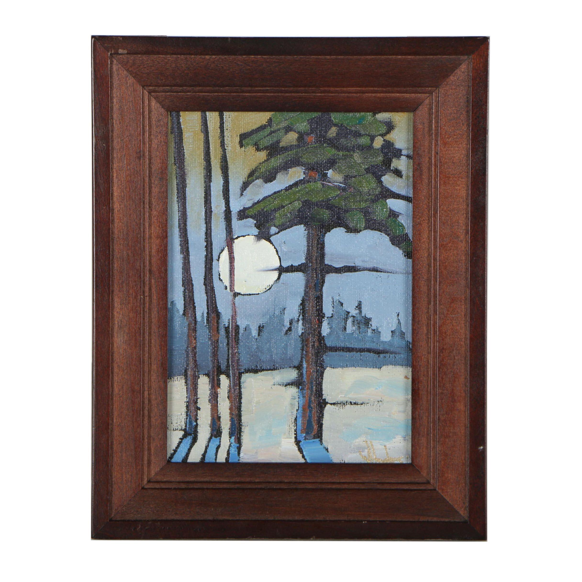 Williams Hawkins Oil Painting