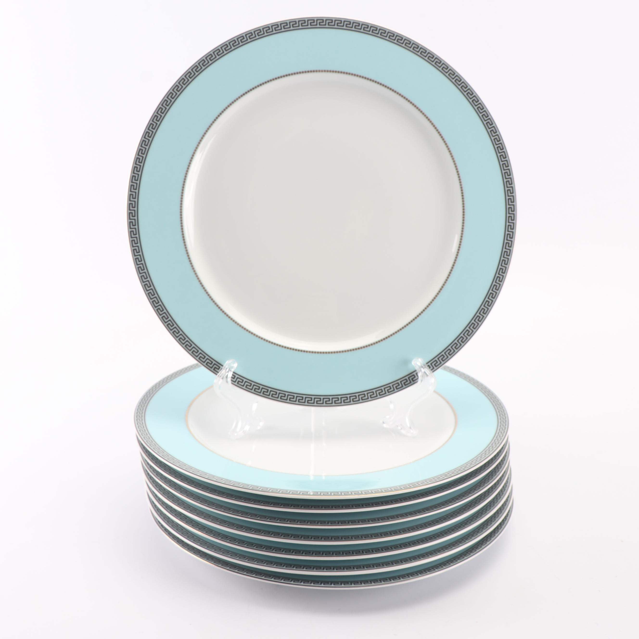 """Versace for Rosenthal """"Continental"""" Porcelain Dinner Plates, Set of Eight"""