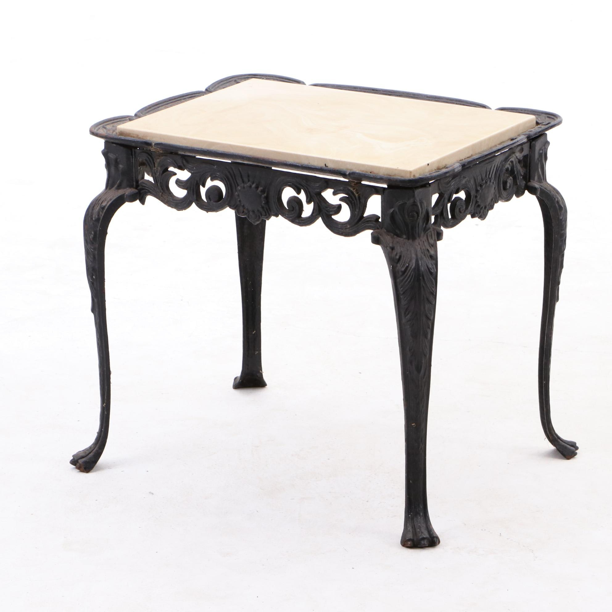 Vintage Cast Iron Accent or Patio Table