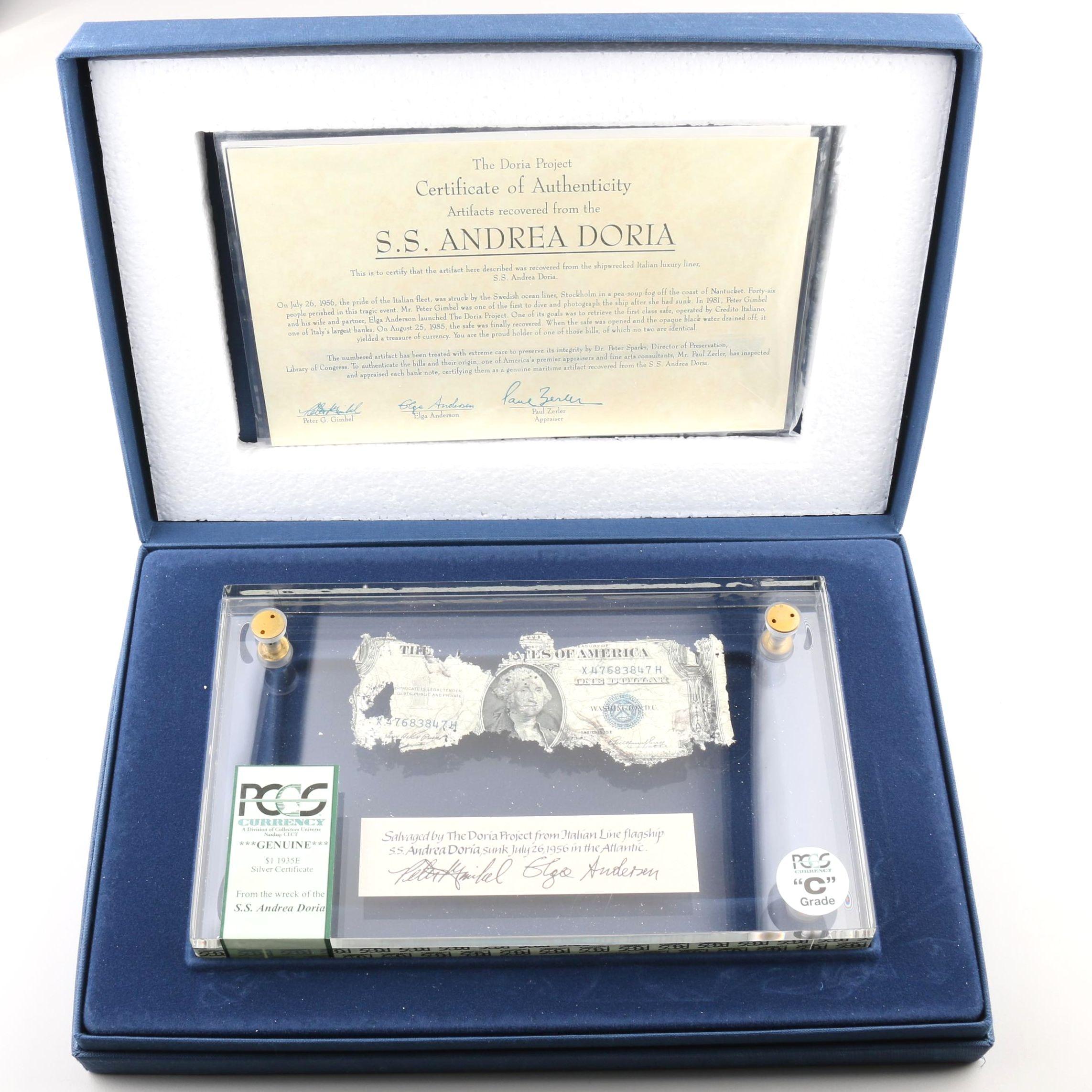 PCGS Graded $1 Silver Certificate from the S.S. Andrea Doria Shipwreck