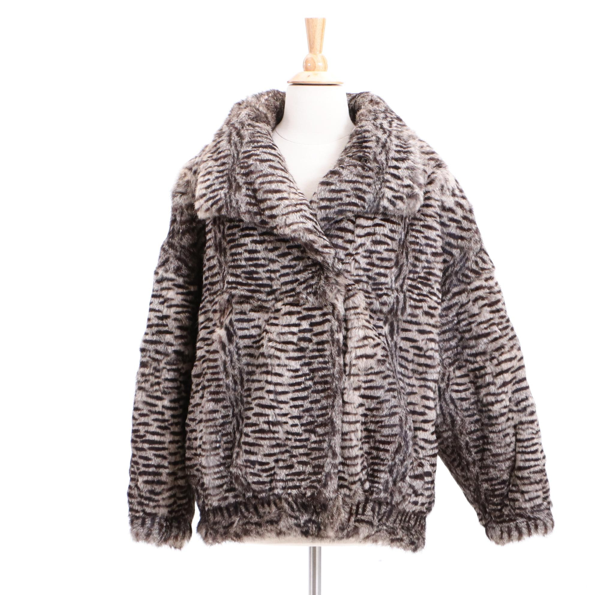 Lori Wilkins for Oh Dyed Rabbit Fur Coat