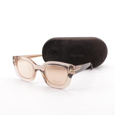 20a8bc3209e Tom Ford Pia Champagne Sunglasses with Case