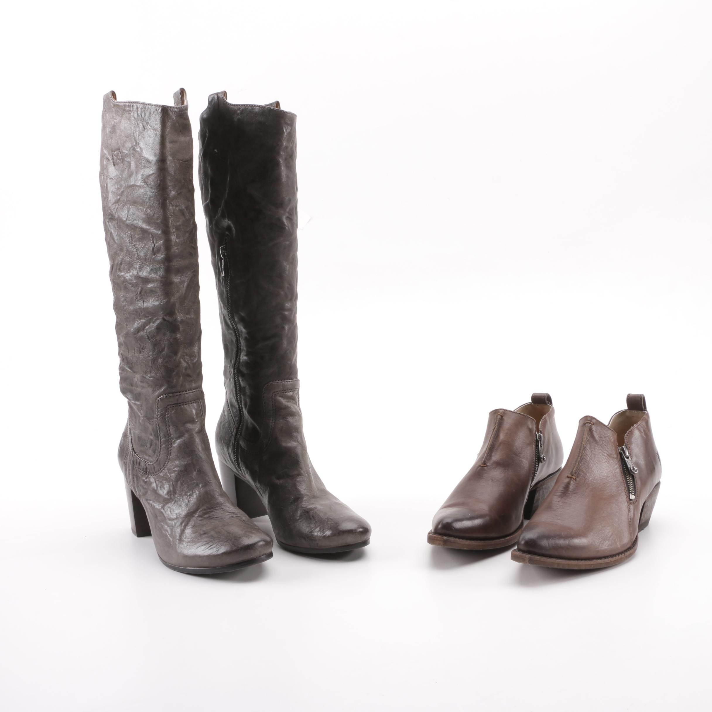 Frye Leather Booties and Carson Boots