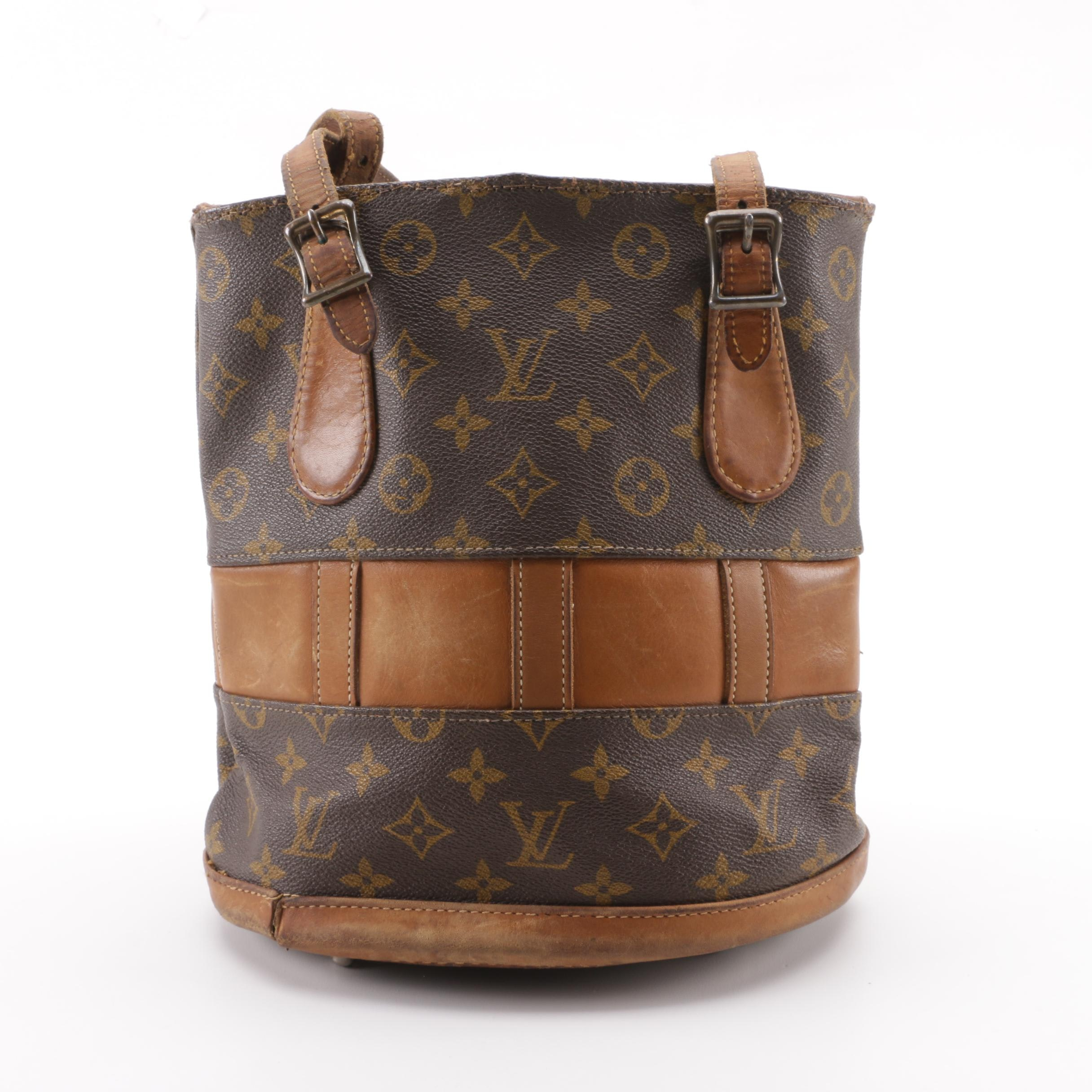 Vintage The French Company for Louis Vuitton Monogram Canvas Bucket PM Bag