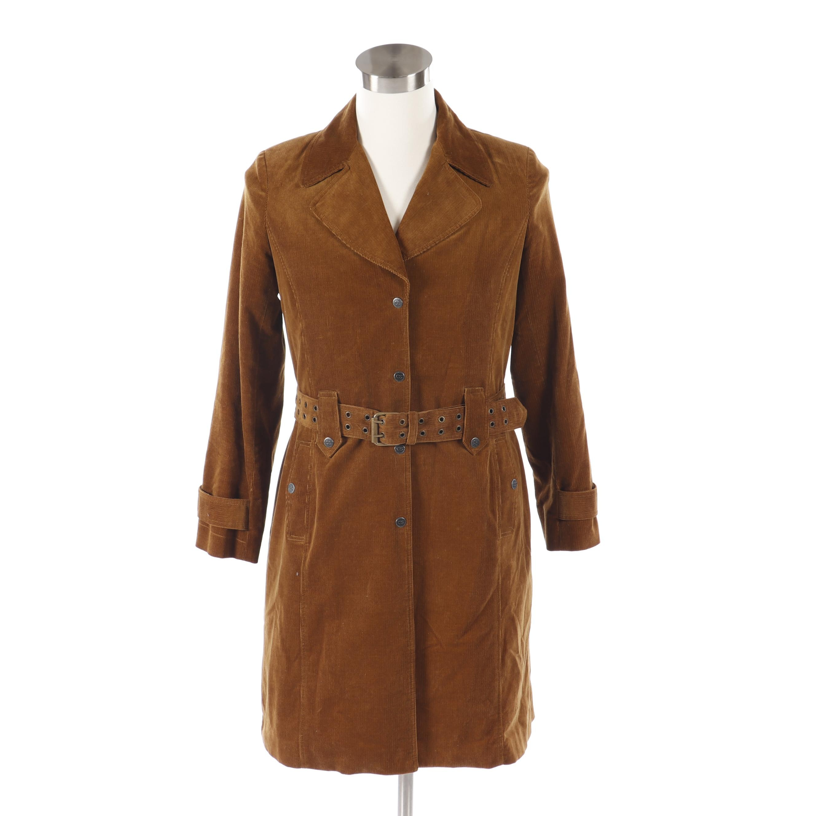 Women's Cynthia Steffe Brown Corduroy Coat