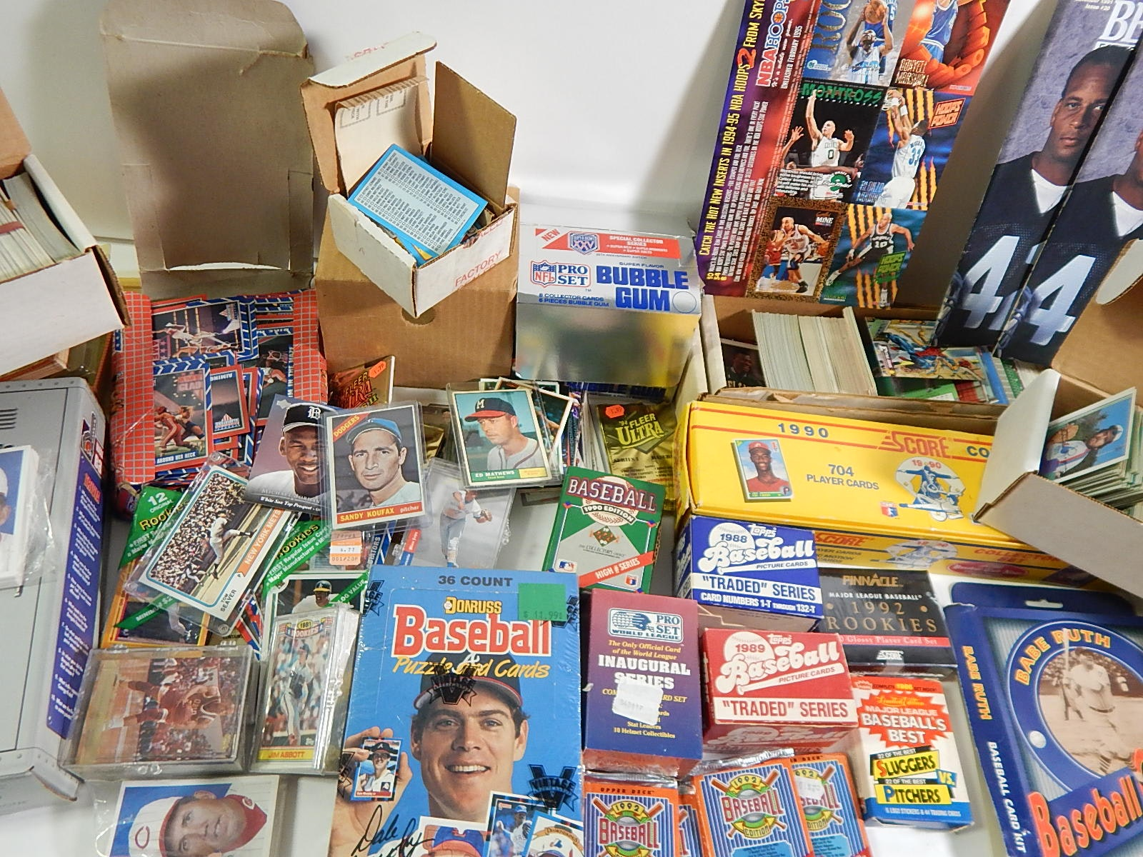 Large Sports Card Collection with Around 3000 Cards with Sets, Rookies, More