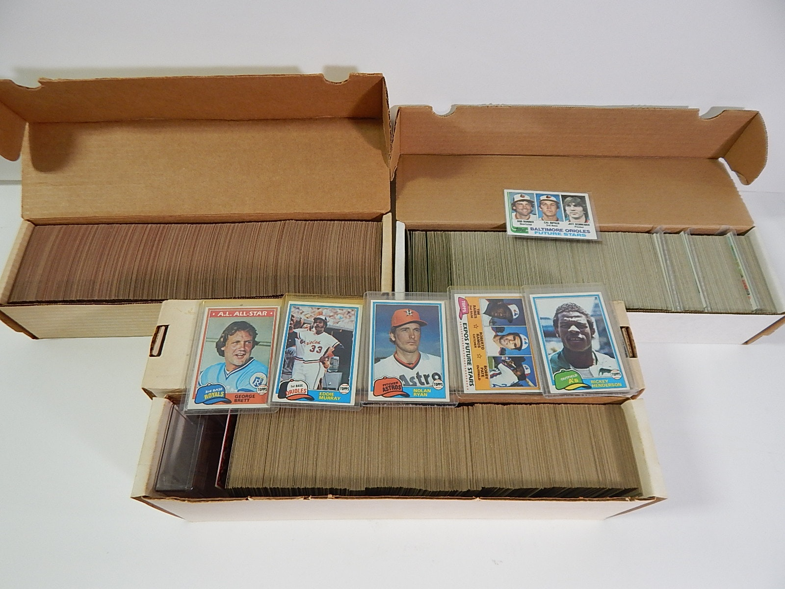 Topps Baseball Card Sets from 1981, 1982, and 1986