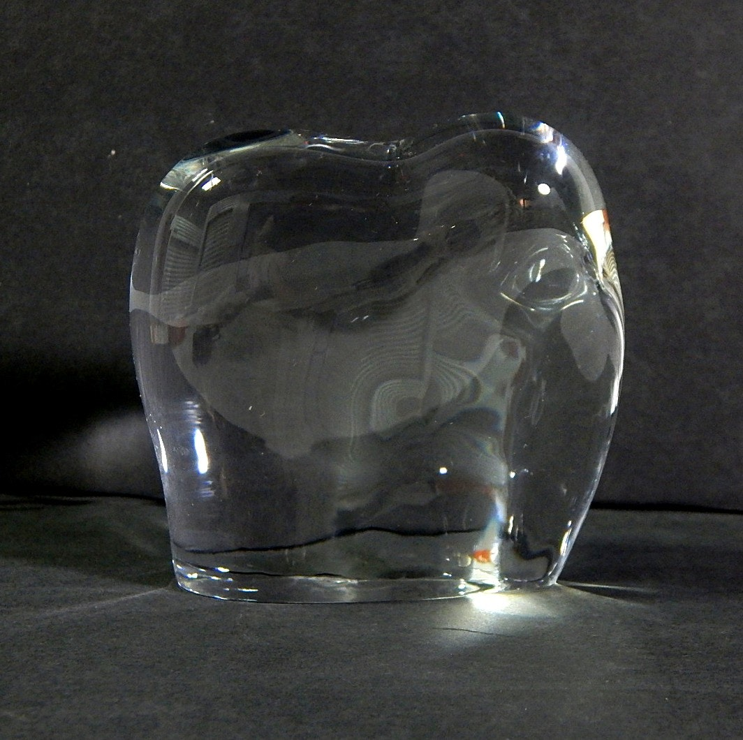 Small Baccarat Crystal Elephant Figurine