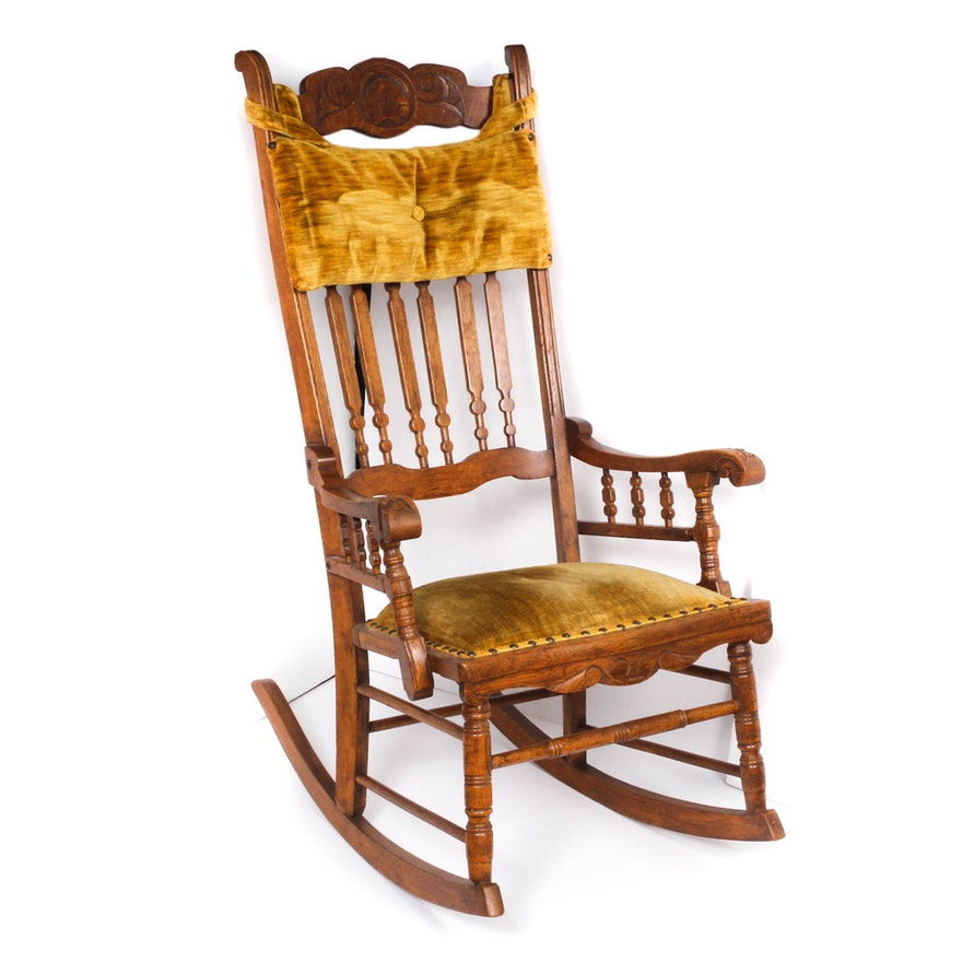 Super Vintage Wooden Rocking Chair Ncnpc Chair Design For Home Ncnpcorg