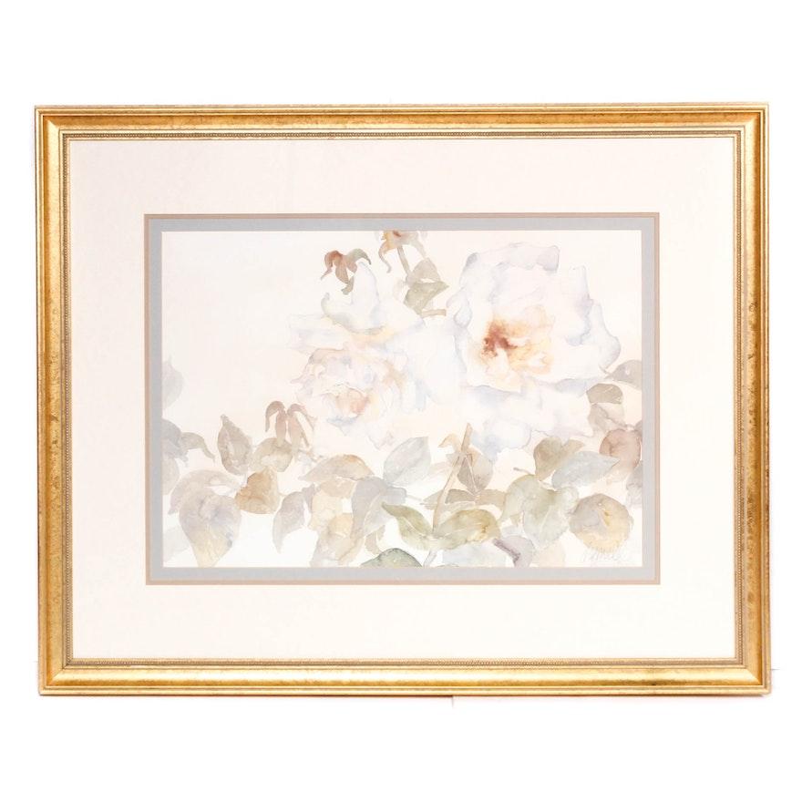 Floral Offset Lithograph