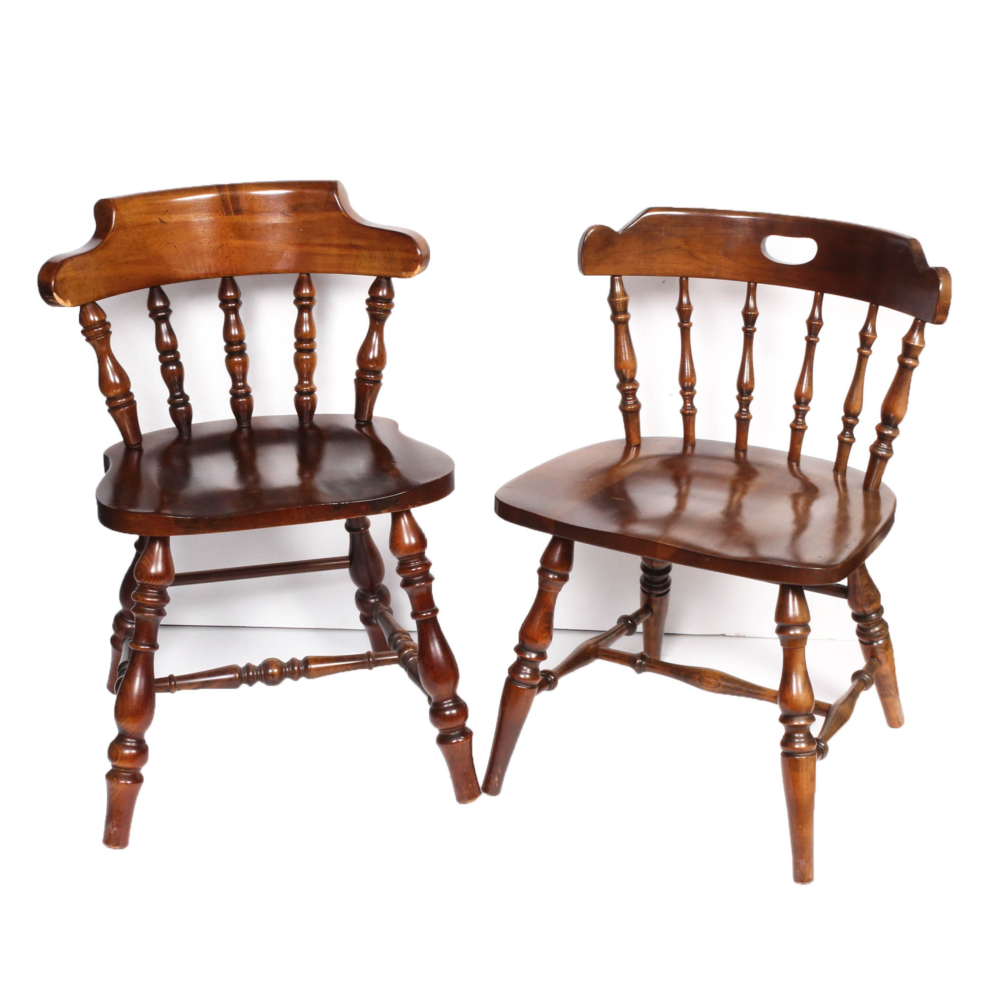 Vintage Solid Wood Side Chairs