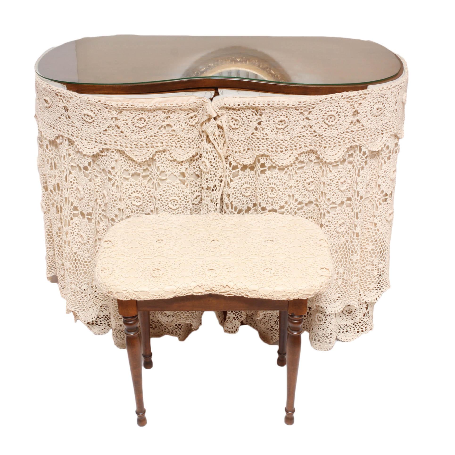 Vintage Wooden Vanity Table