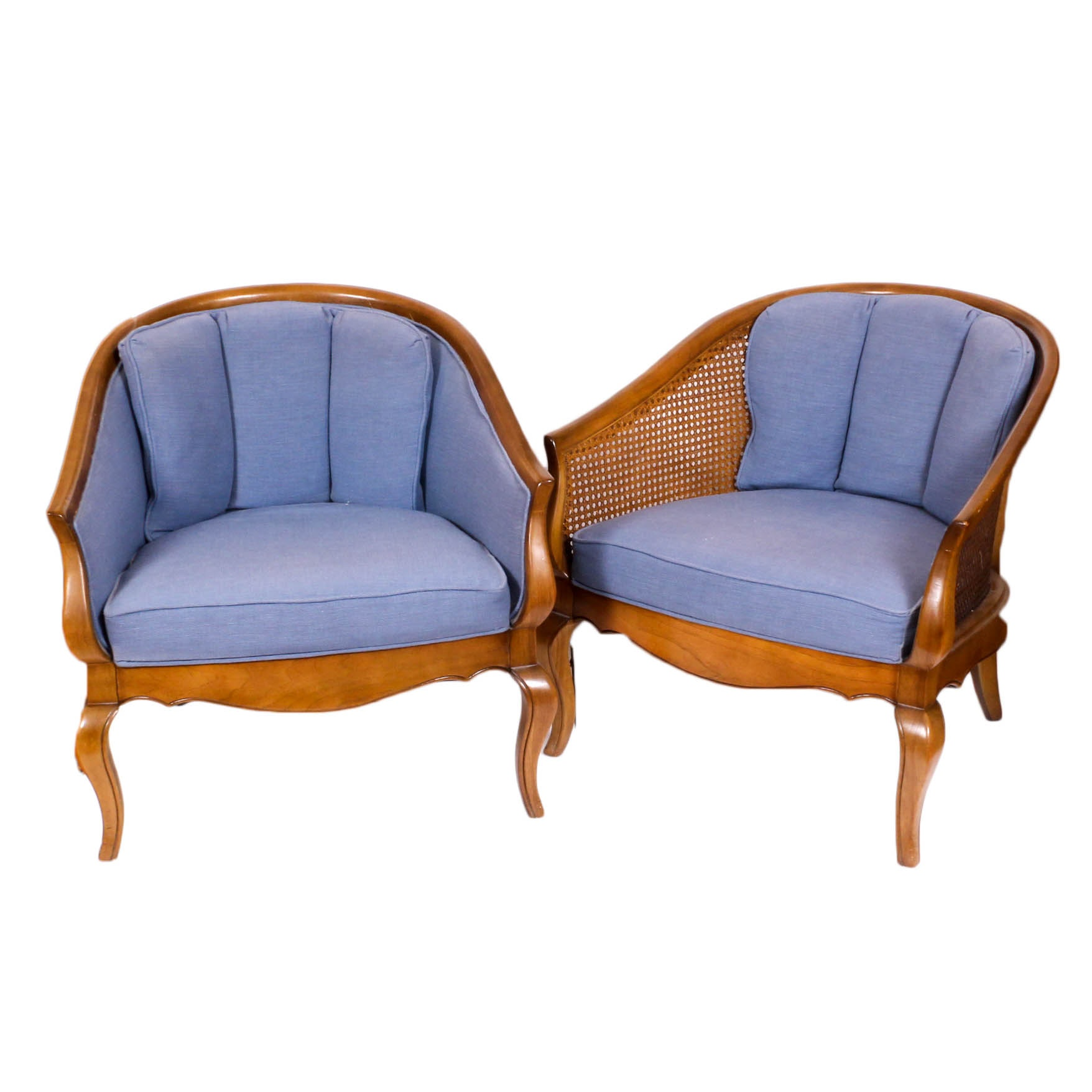 Vintage Barrel Back Armchairs