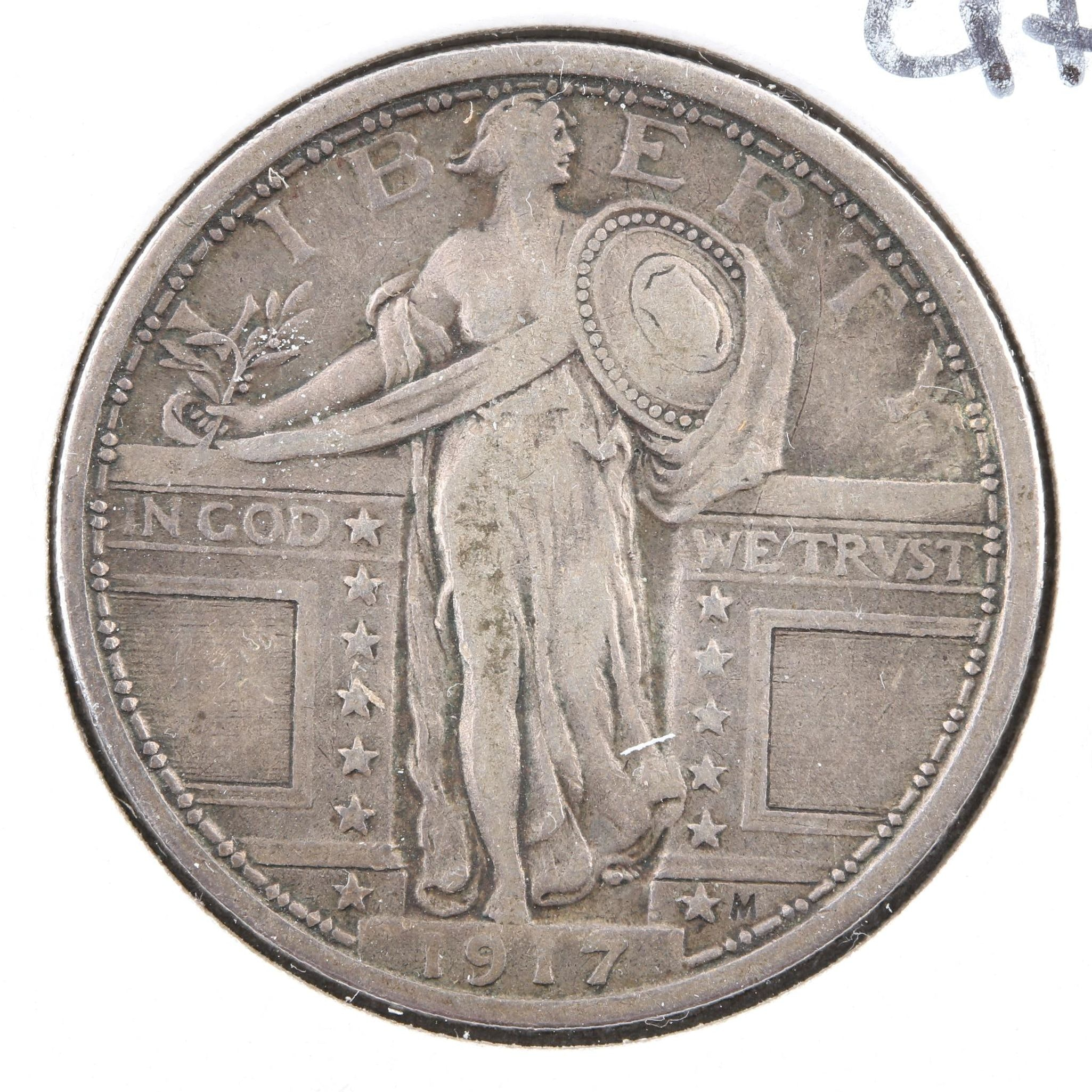 1917 Type I Standing Liberty Silver Quarter