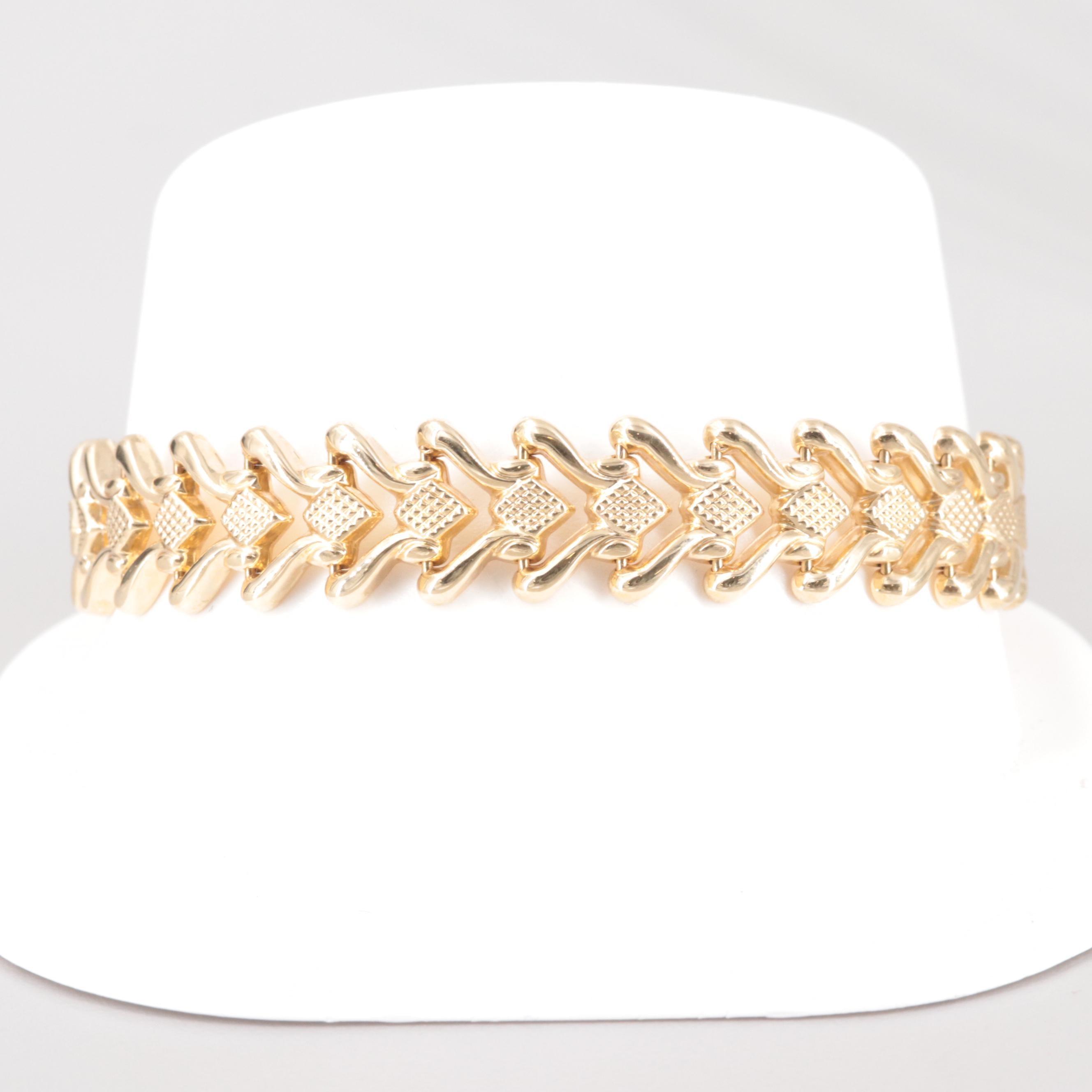 Aurafin 14K Yellow Gold Stampato Bracelet