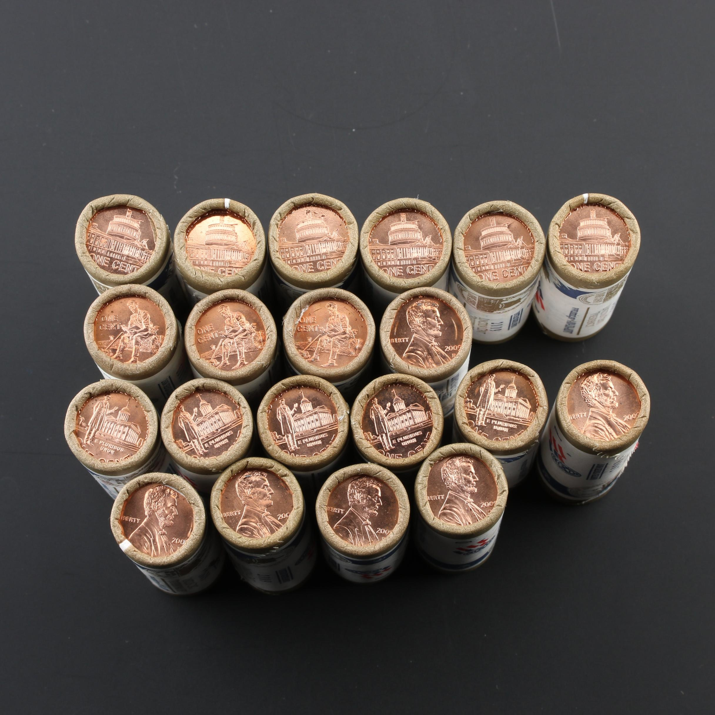 Group of Twenty Rolls of 2009 Lincoln Bicentennial Cents