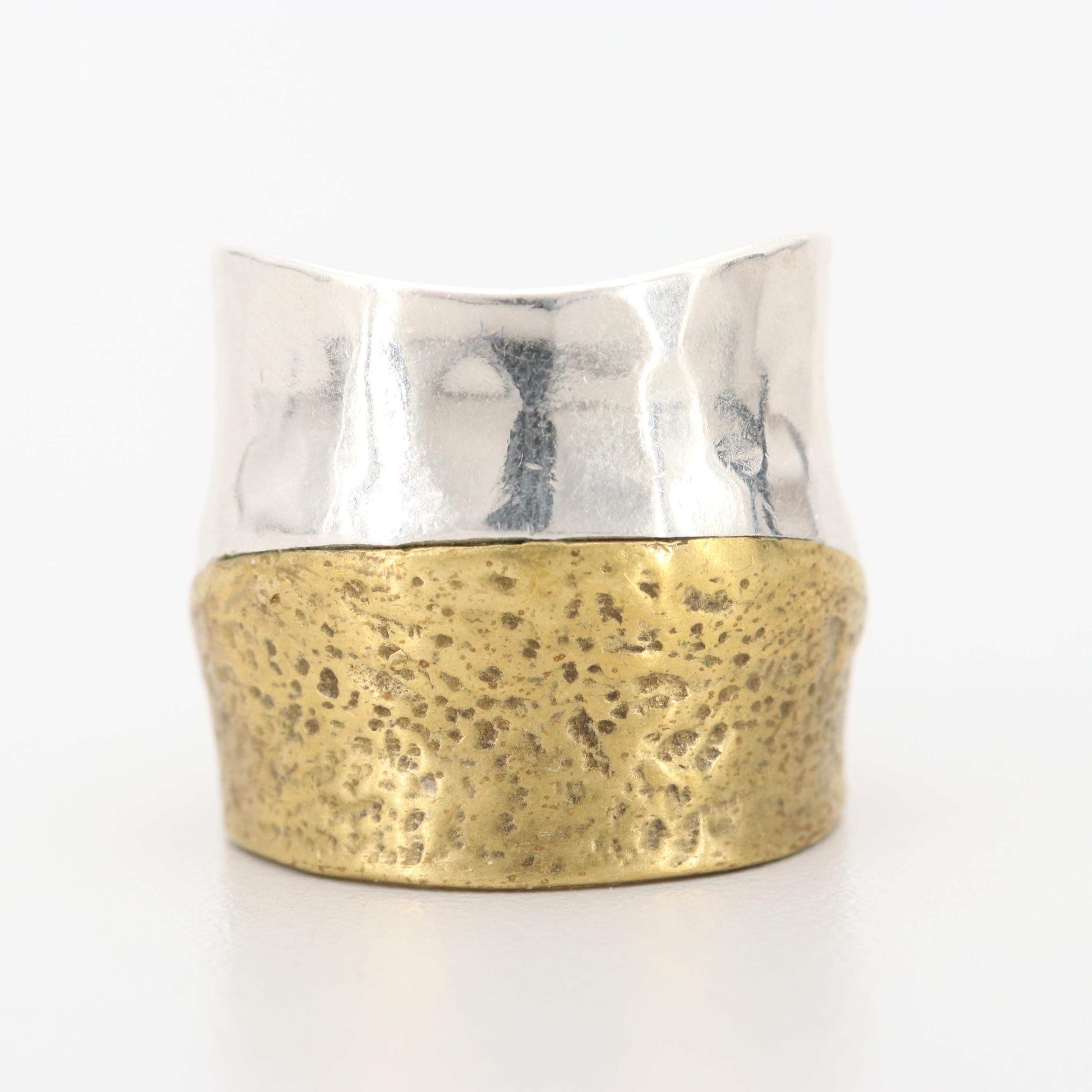 Silpada Sterling Silver and Gold Tone Ring