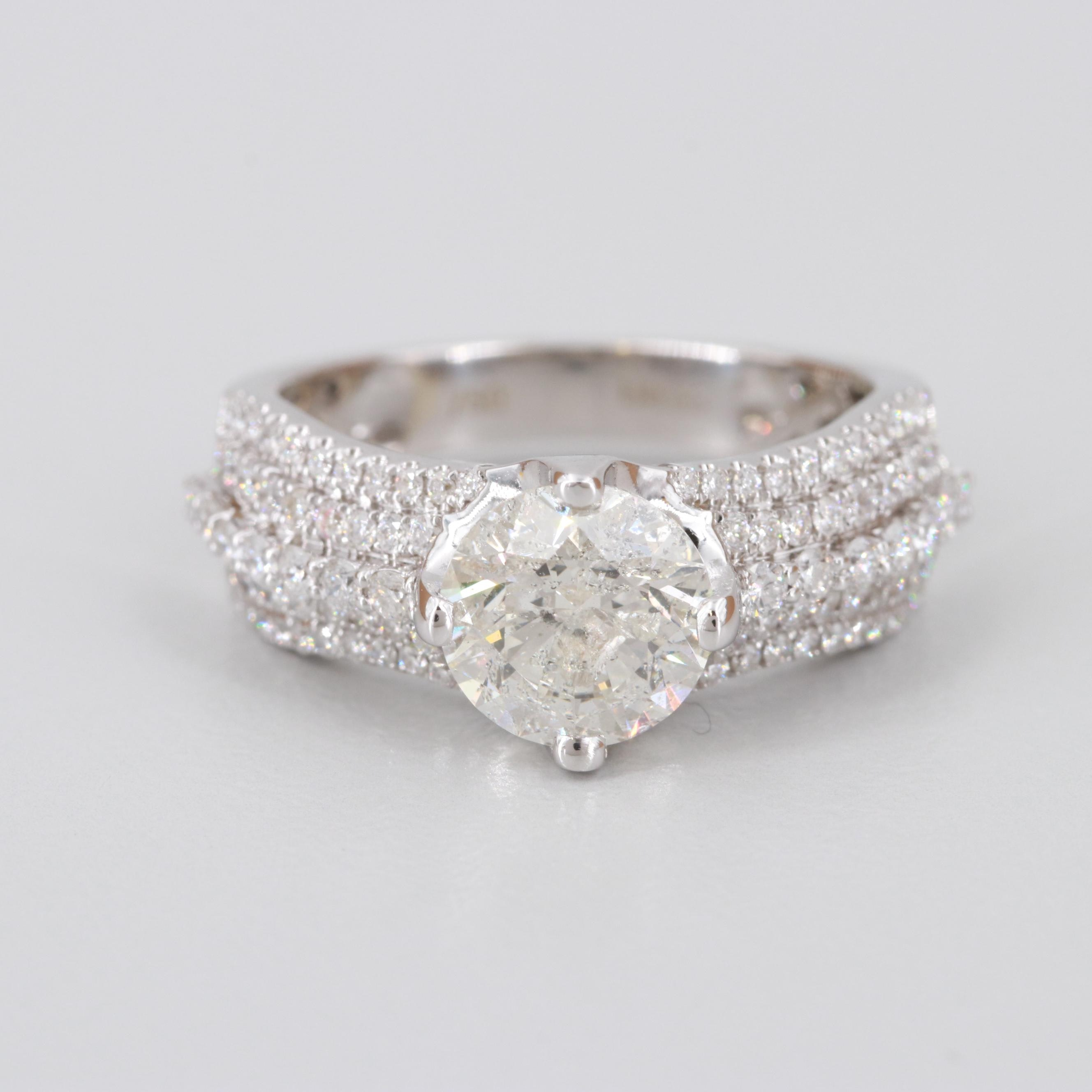 18K White Gold 2.49 CTW Diamond Ring
