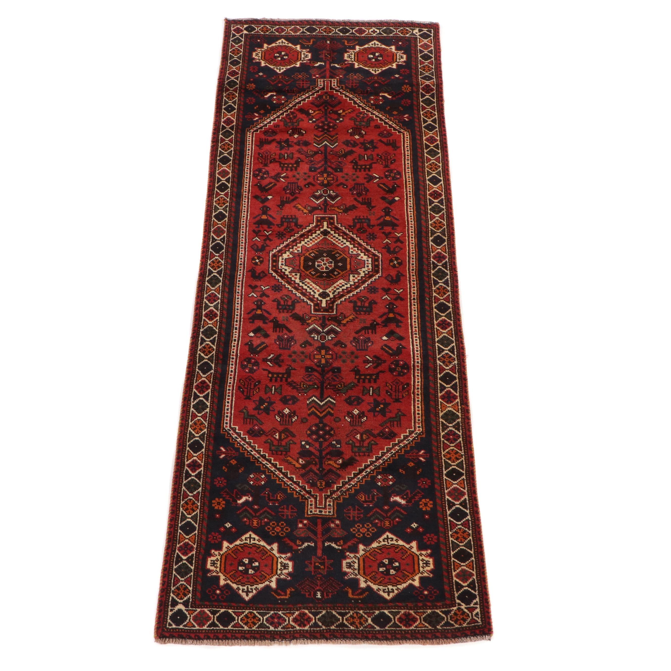 Hand-Knotted Persian Shiraz Wool Runner