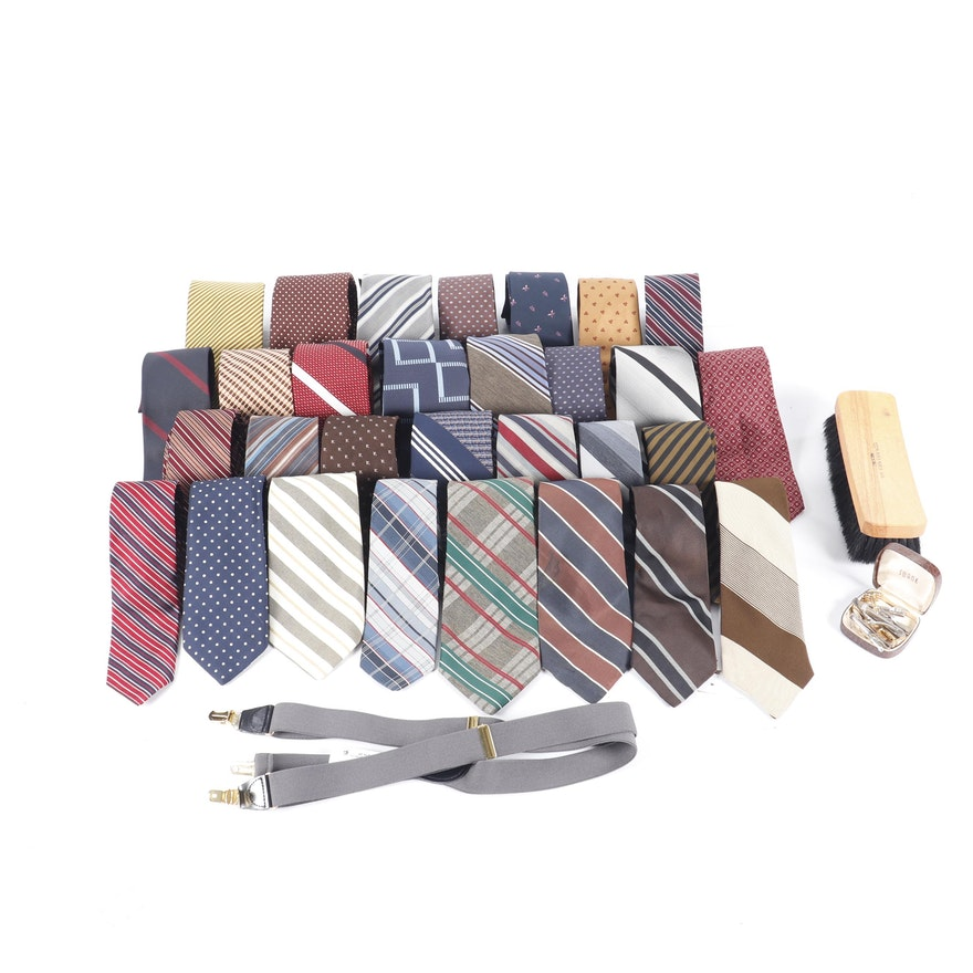 2068655a70a7 Men's Neckties and Accessories Including Christian Dior and Longchamps ...