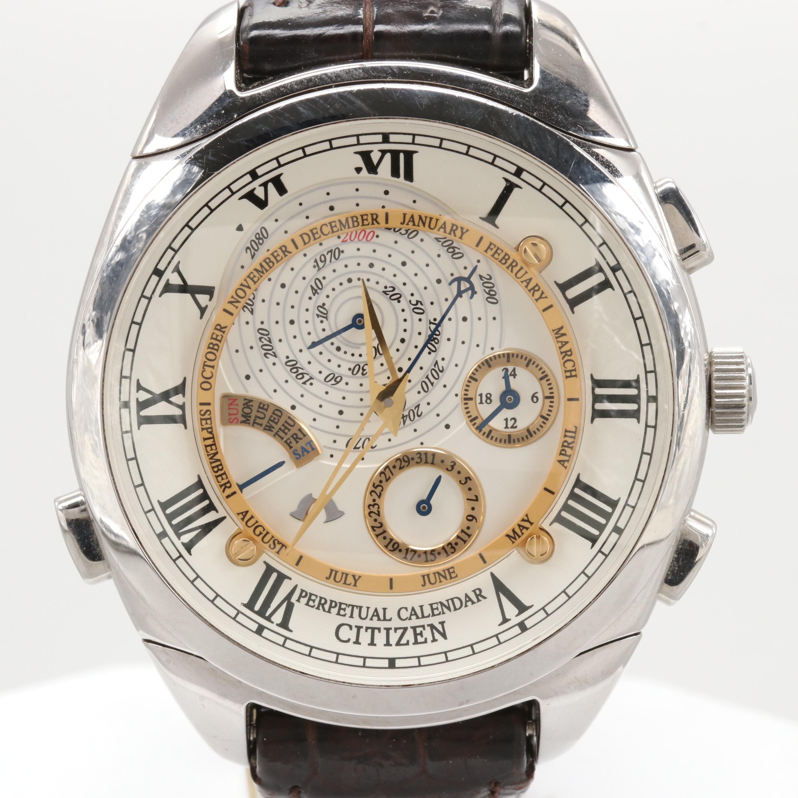 Citizen Campanola 101 Wristwatch With Perpetual Calendar