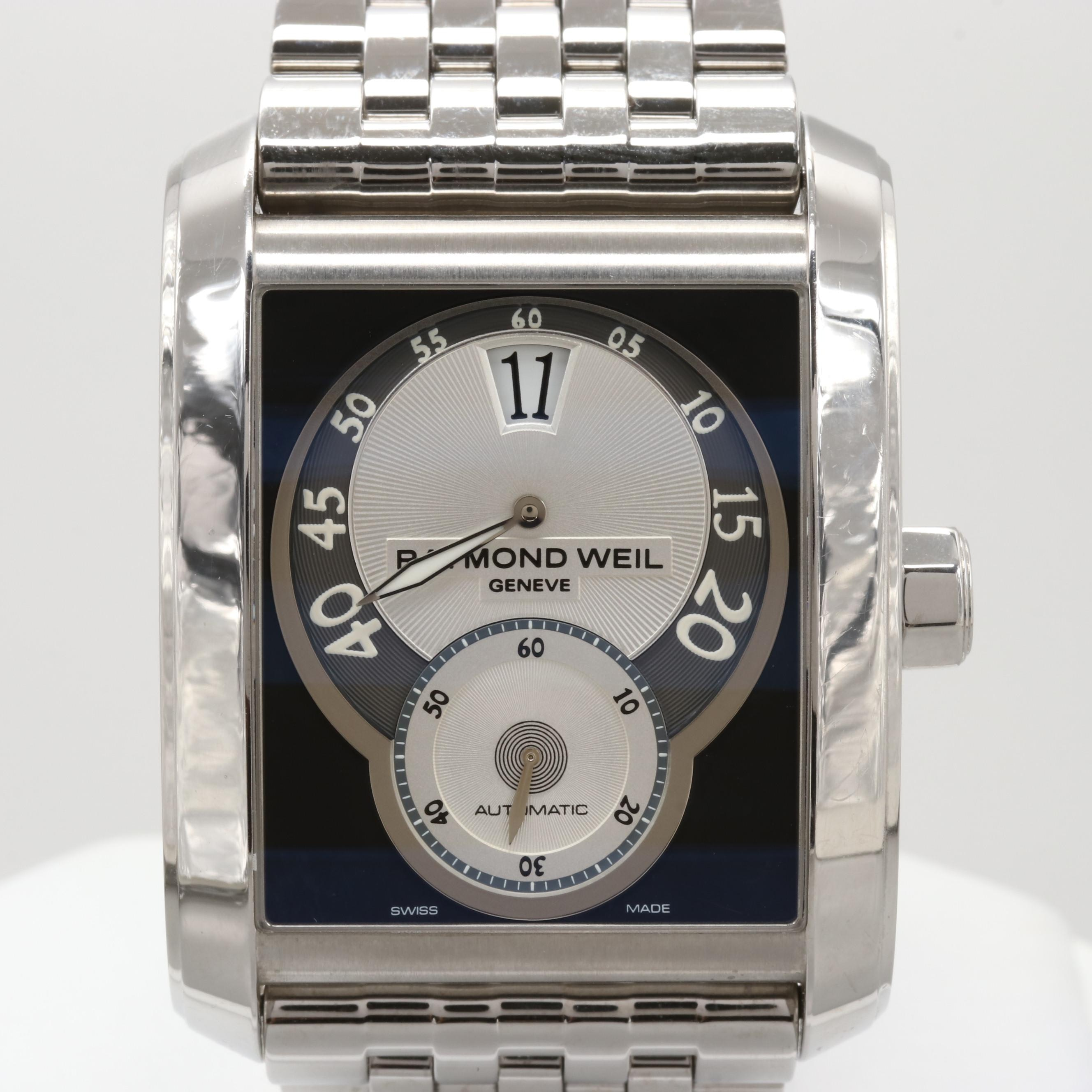 Raymond Weil Stainless Steel Don Giovanni Cosi Grande Jumping Hour Wristwatch
