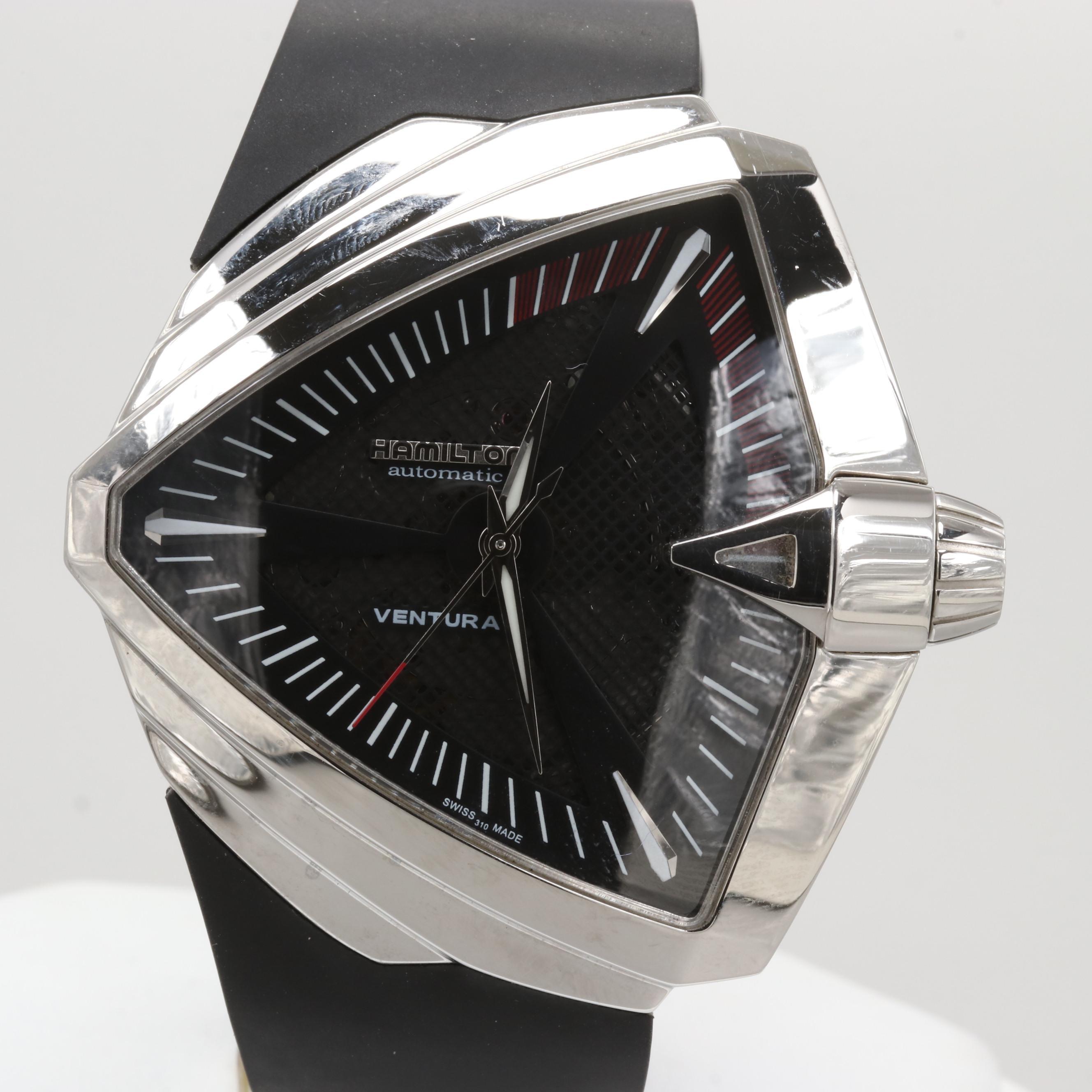 Hamilton Ventura XXL Stainless Steel Automatic Wristwatch