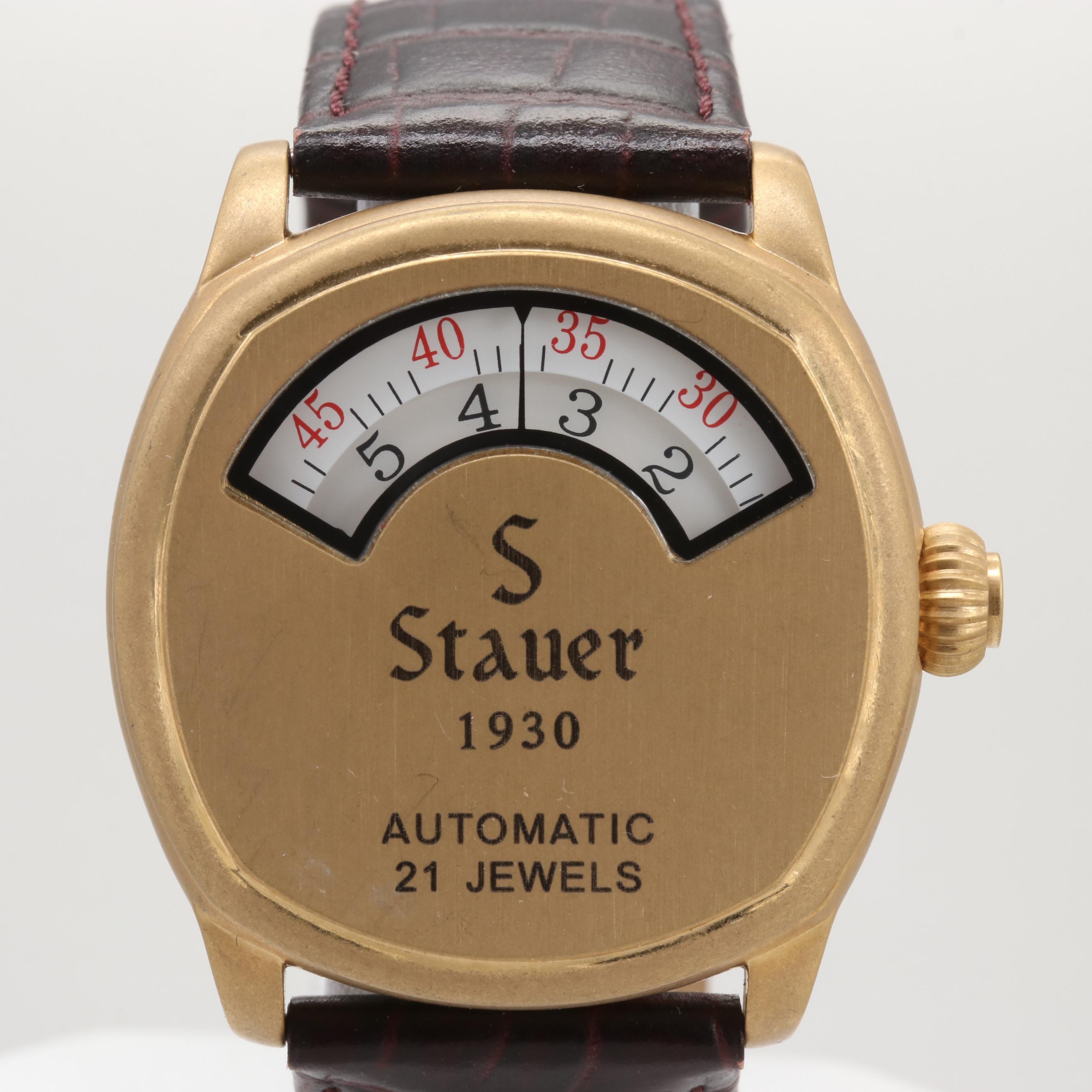 Stauer Automatic Wristwatch With Window Time Display
