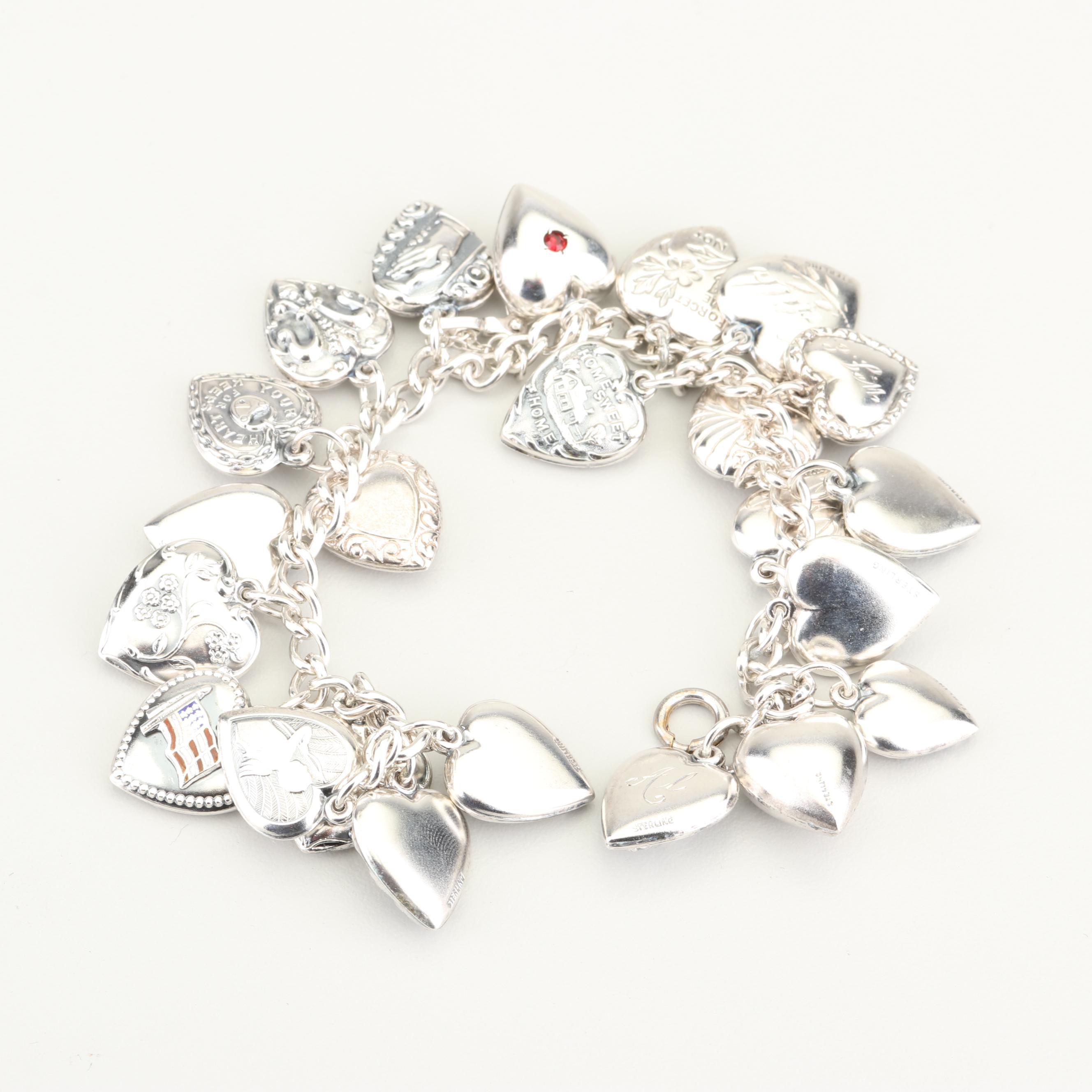 Sterling Silver Initials Charm Bracelet