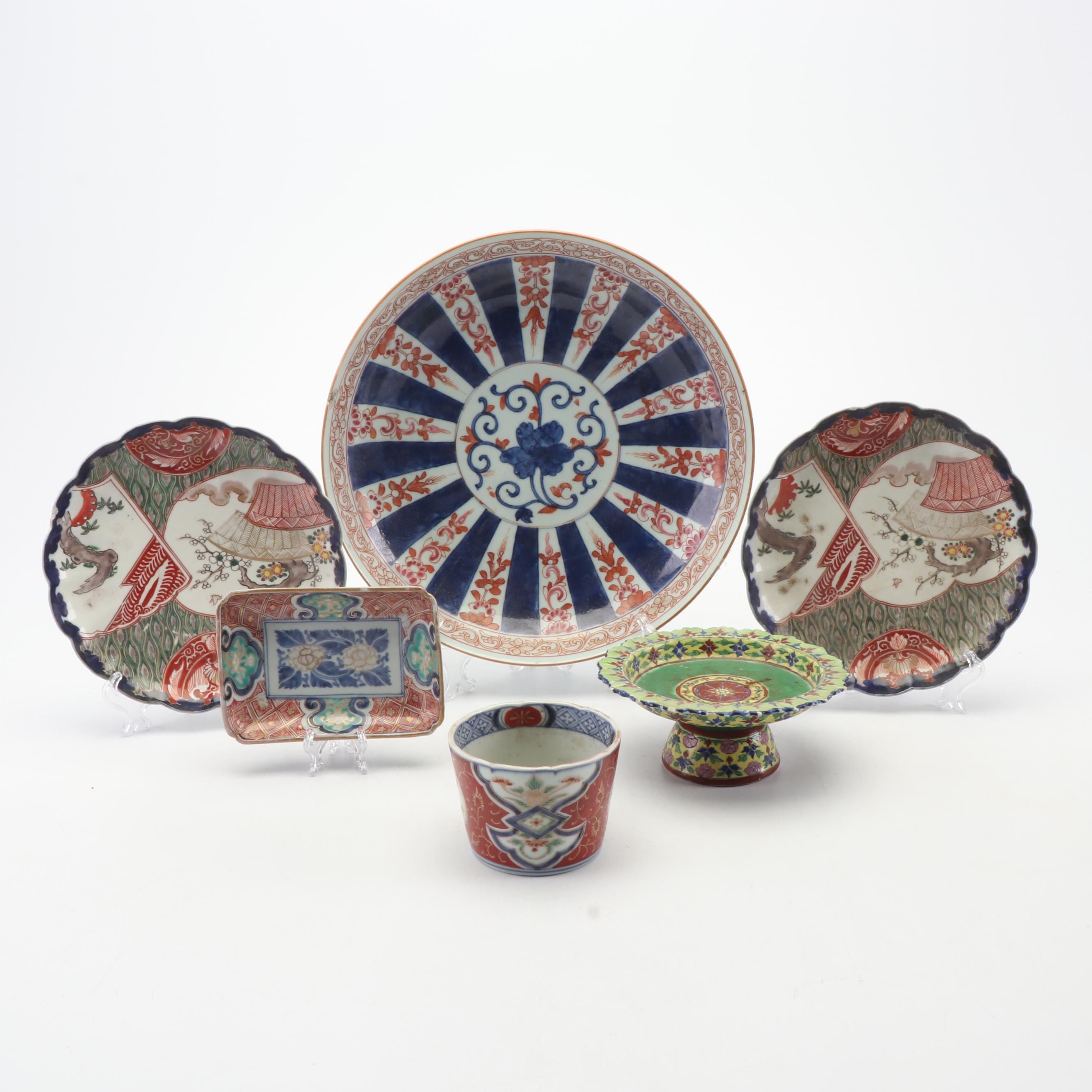 Imariware Assorted 19th and 20th Century and Persian Compote
