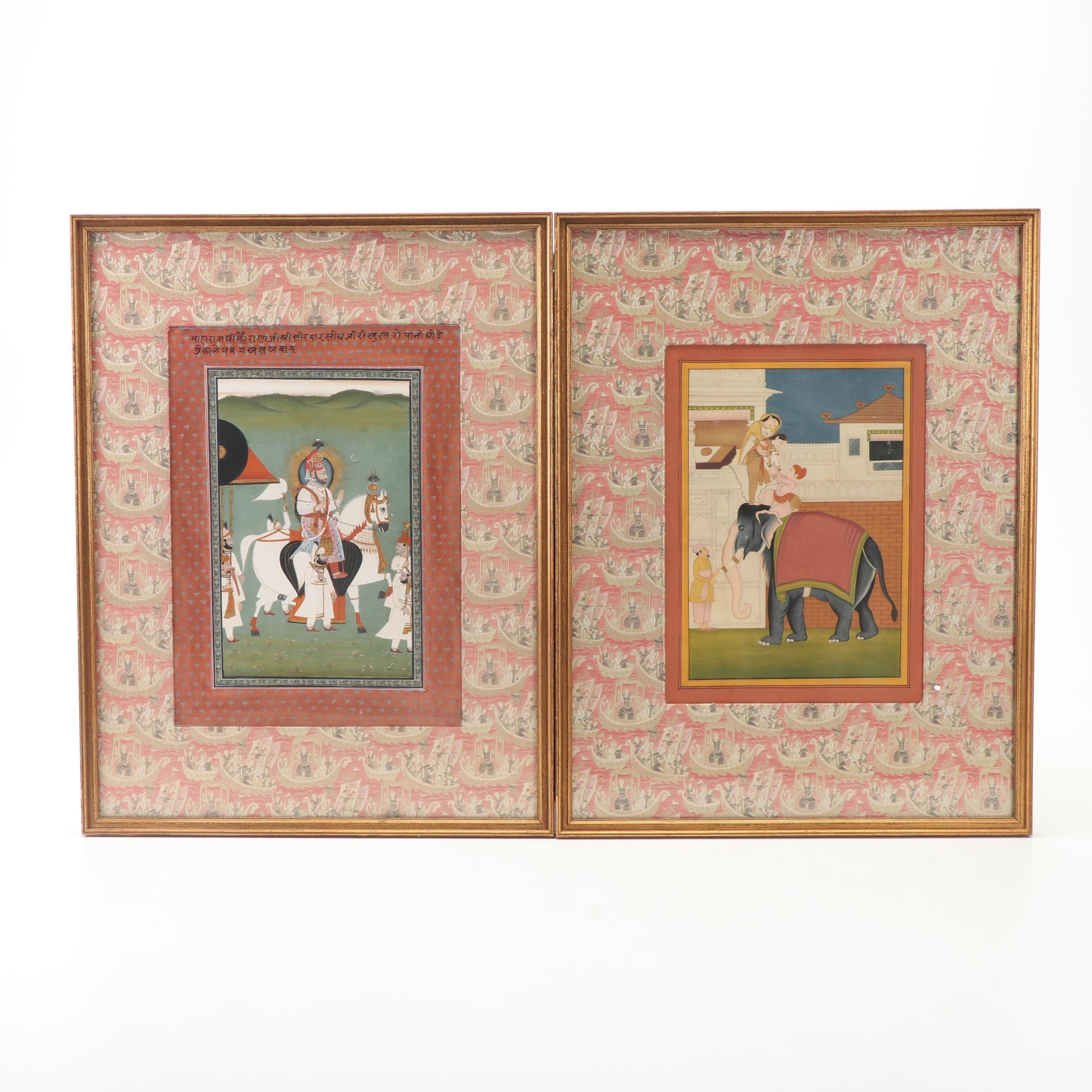 Mughal Style Gouache Paintings
