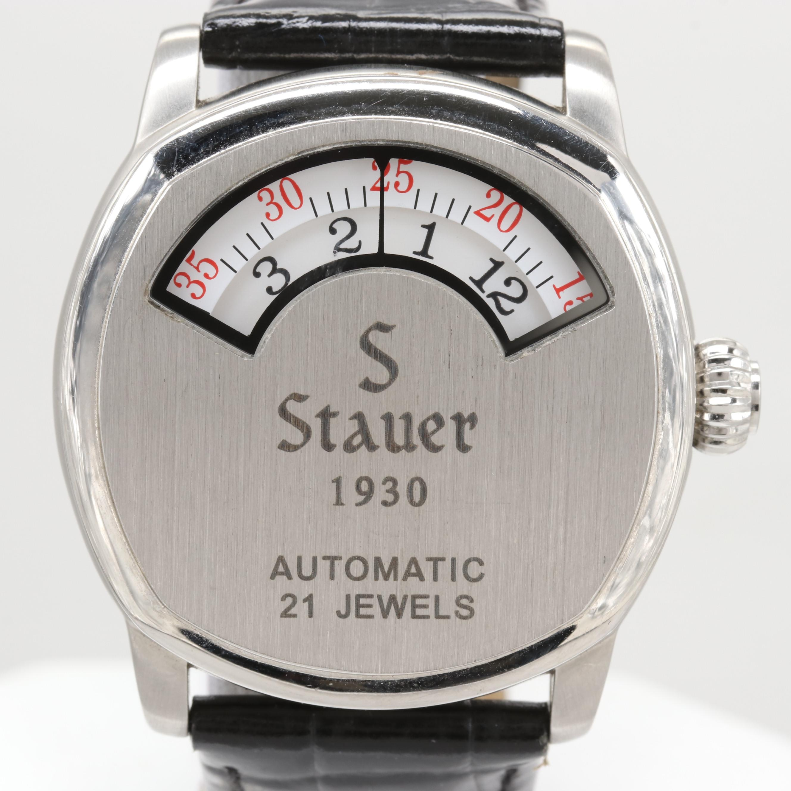 Stauer 1930 Dashtronic Stainless Steel Automatic Wristwatch