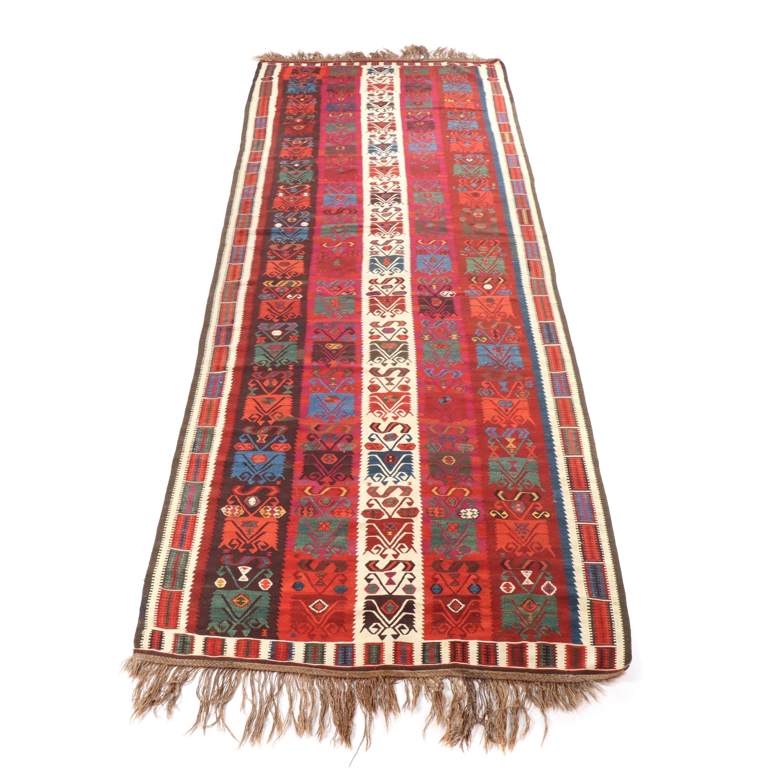 Handwoven Turkish Wool Kilim Runner