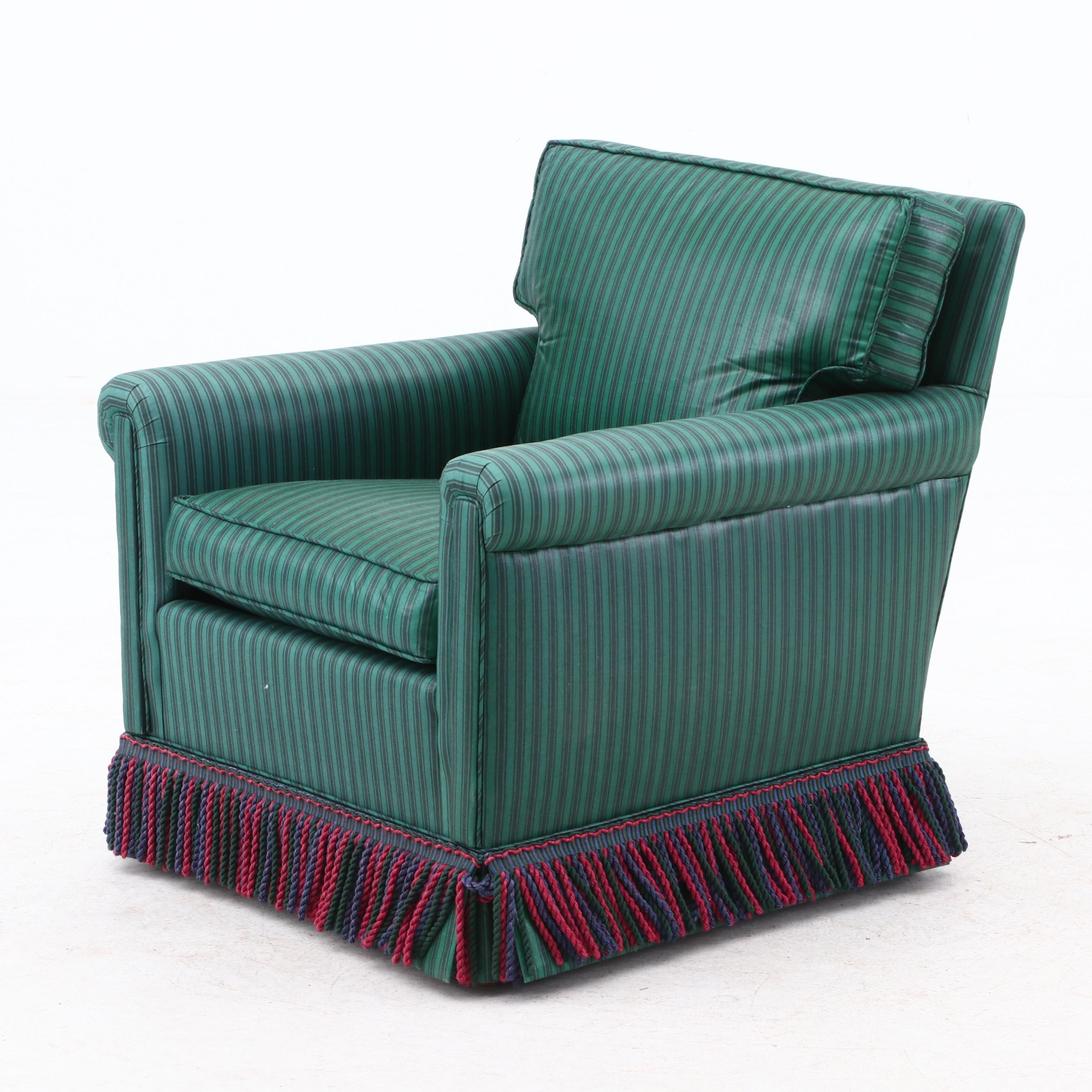 Upholstered Armchair in Green