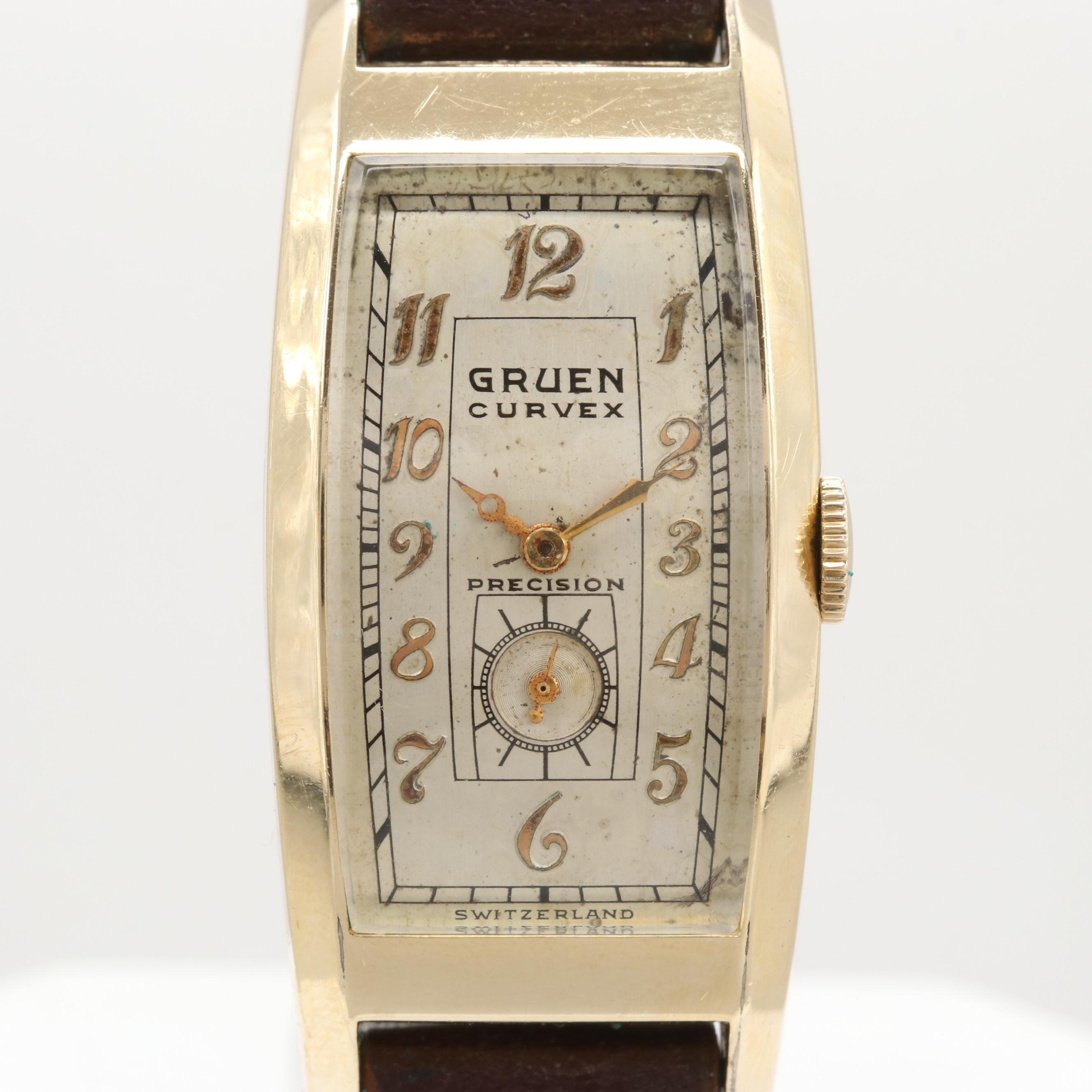 Vintage Gruen Curvex 14K Gold Filled Wristwatch