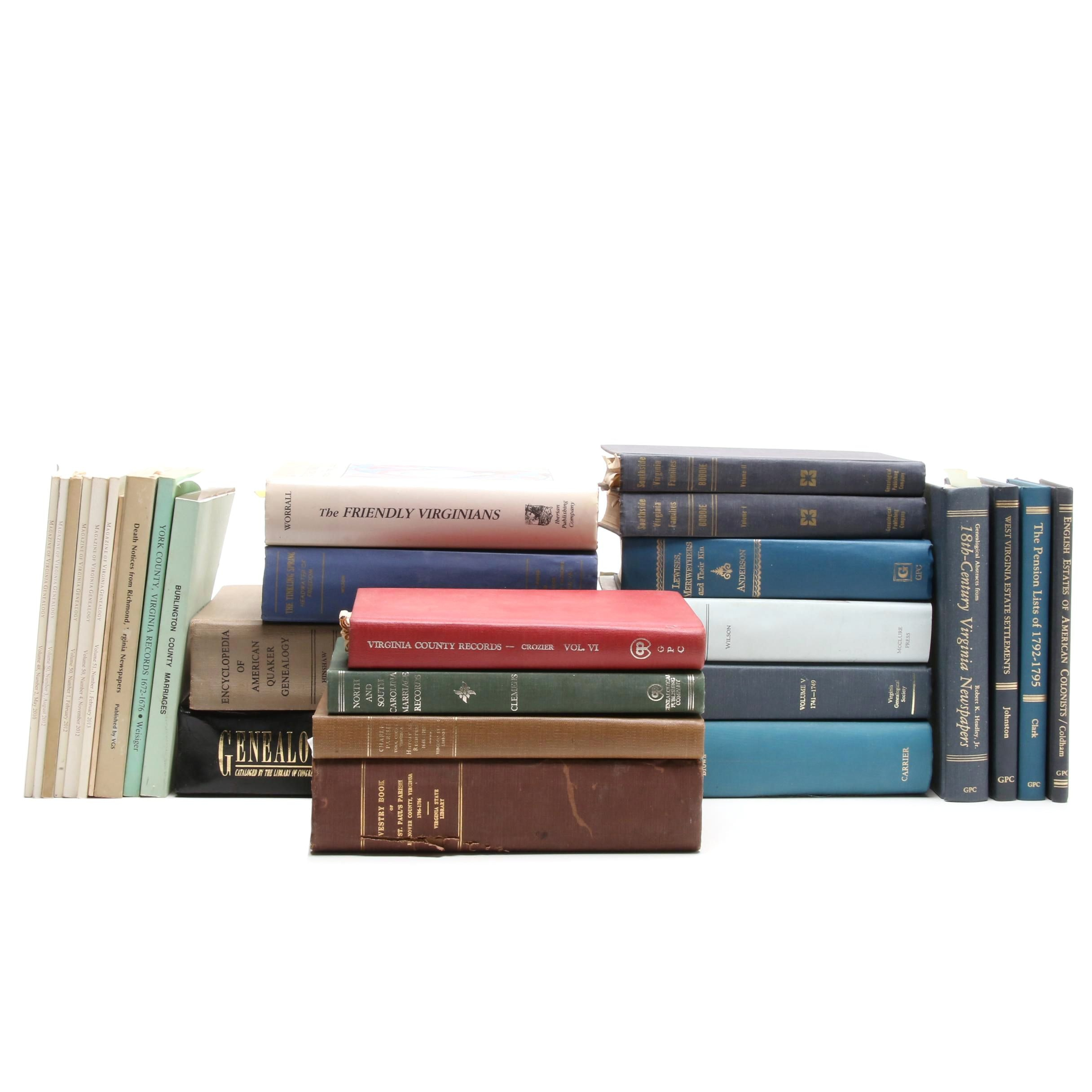 Large Group of Virginia History Books