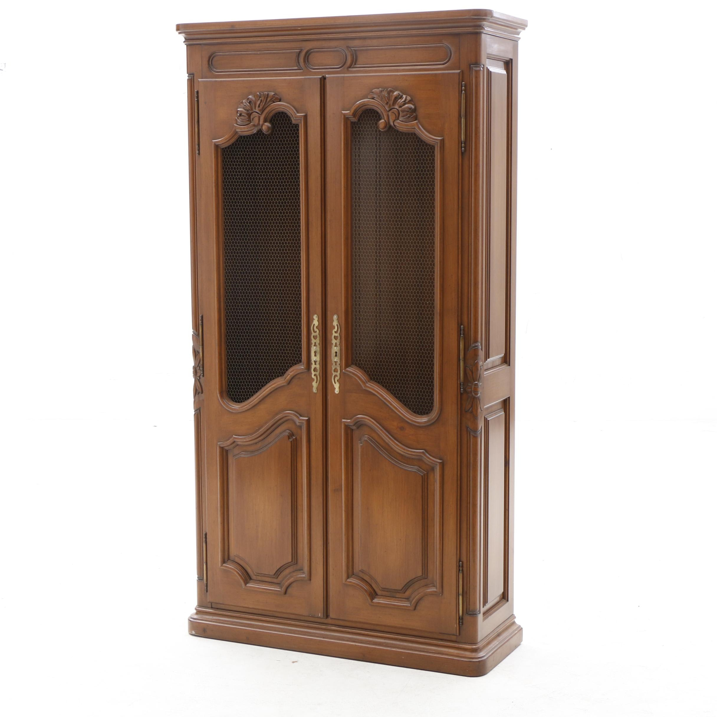 Circa 1960s French Provincial Style Cabinet
